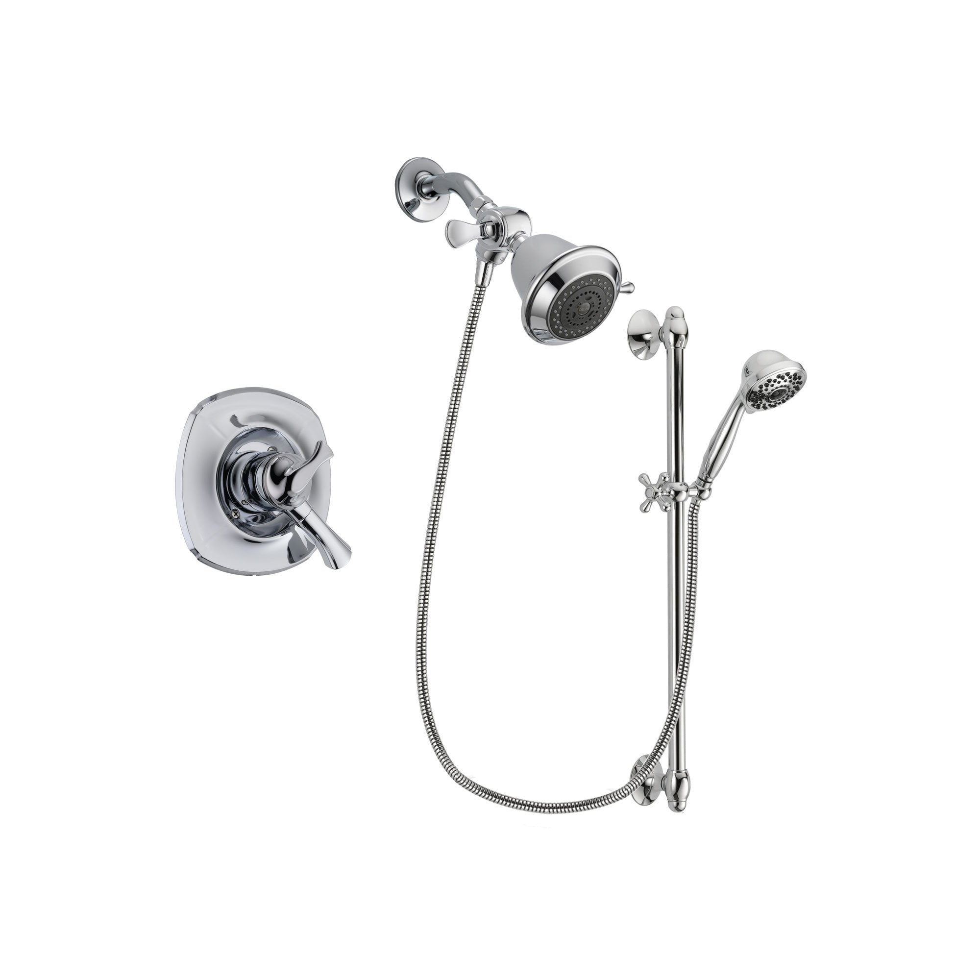 Delta Addison Chrome Shower Faucet System w/ Showerhead and Hand Shower DSP0590V