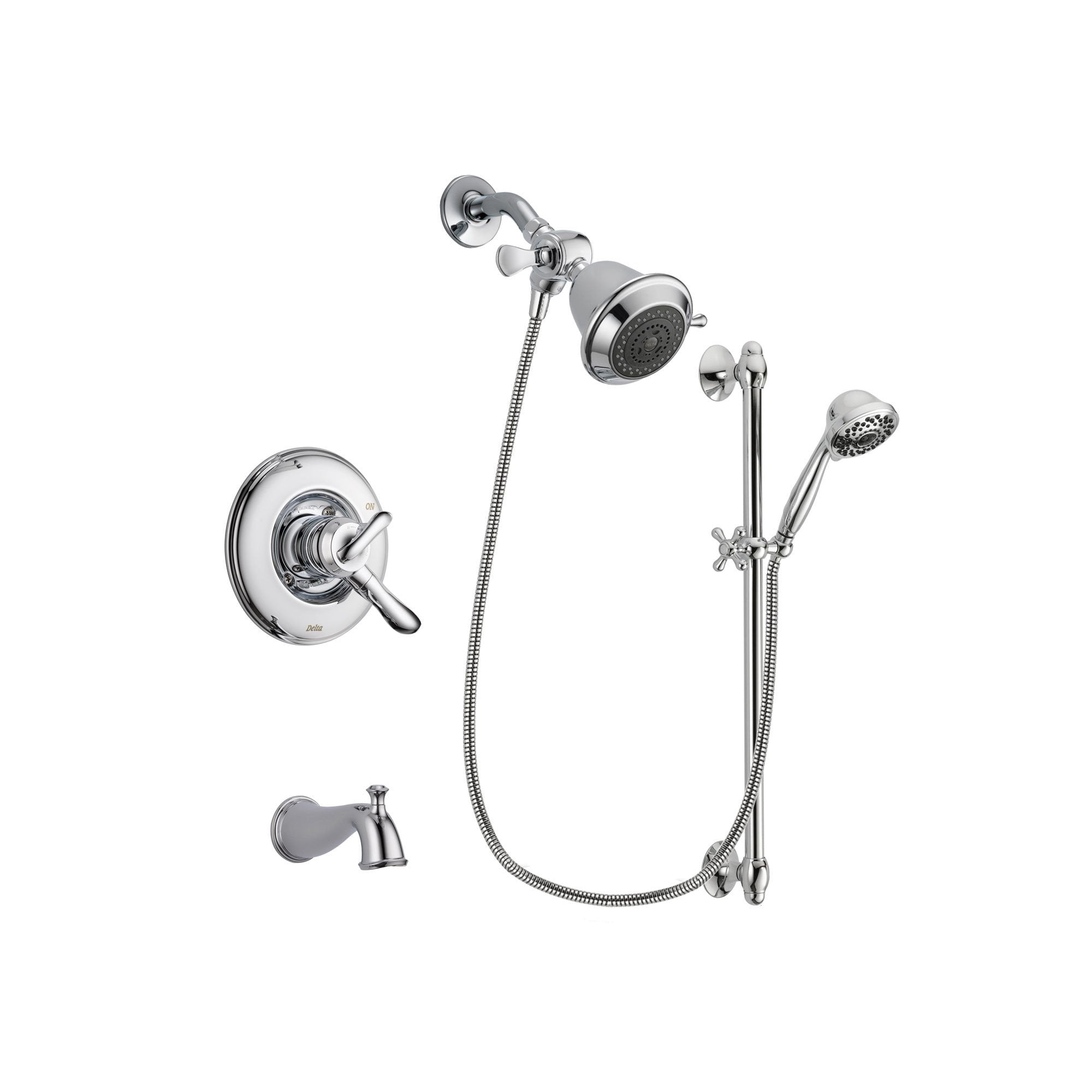 Delta Linden Chrome Tub and Shower Faucet System with Hand Shower DSP0591V