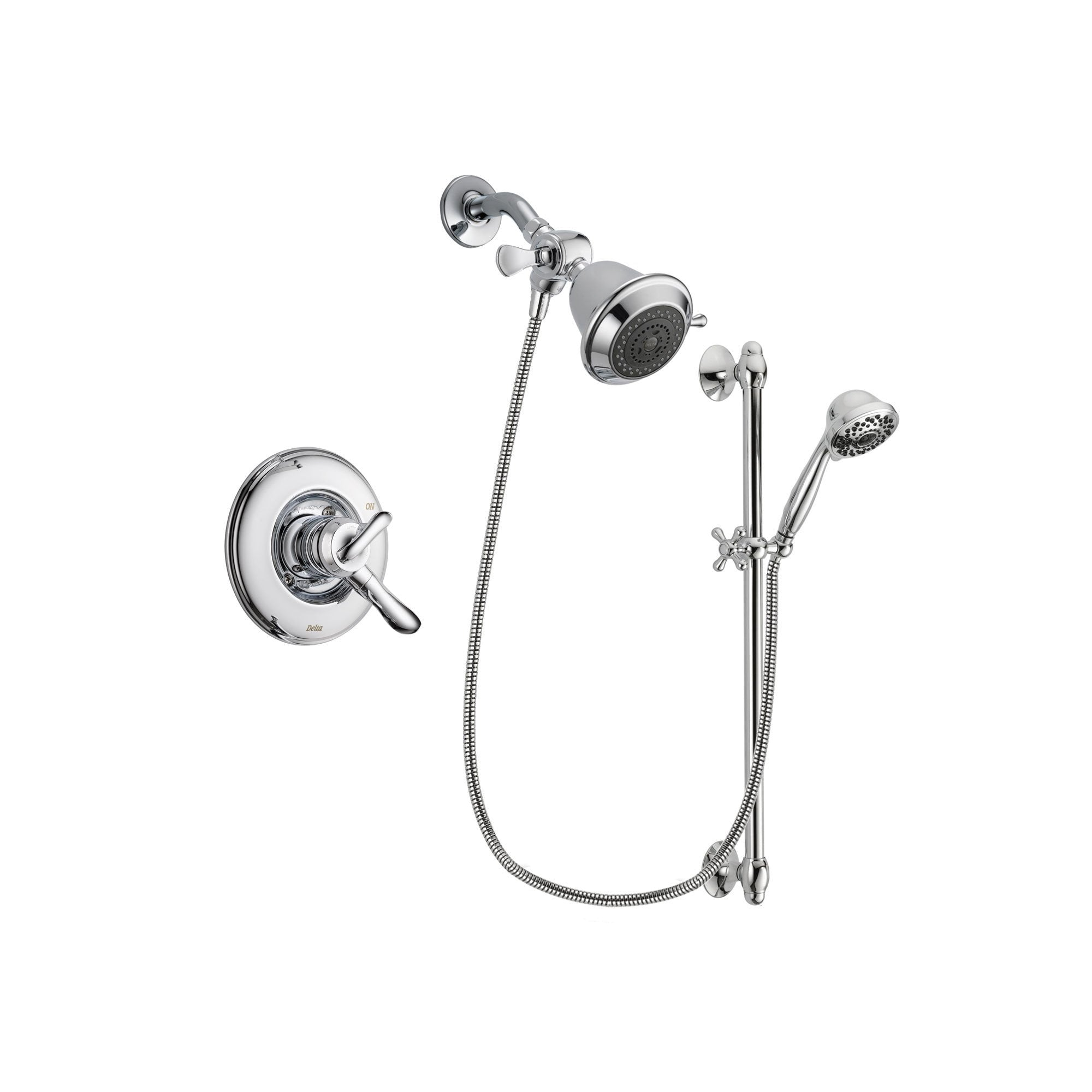 Delta Linden Chrome Shower Faucet System w/ Shower Head and Hand Shower DSP0592V