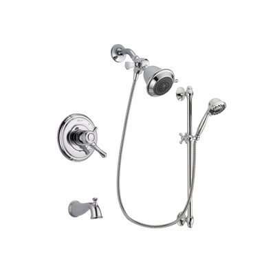 Delta Cassidy Chrome Tub and Shower Faucet System with Hand Shower DSP0593V