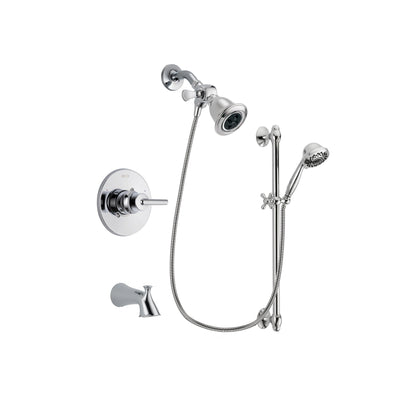 Delta Trinsic Chrome Tub and Shower Faucet System with Hand Shower DSP0607V
