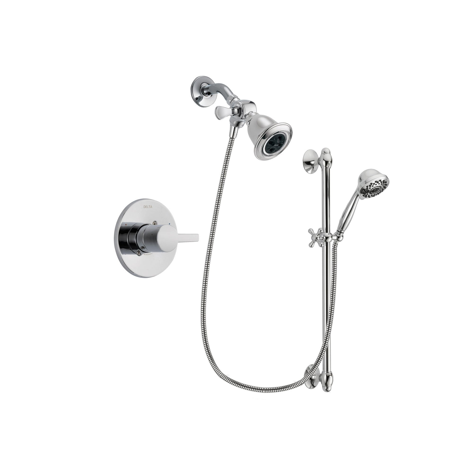 Delta Compel Chrome Shower Faucet System w/ Shower Head and Hand Shower DSP0610V