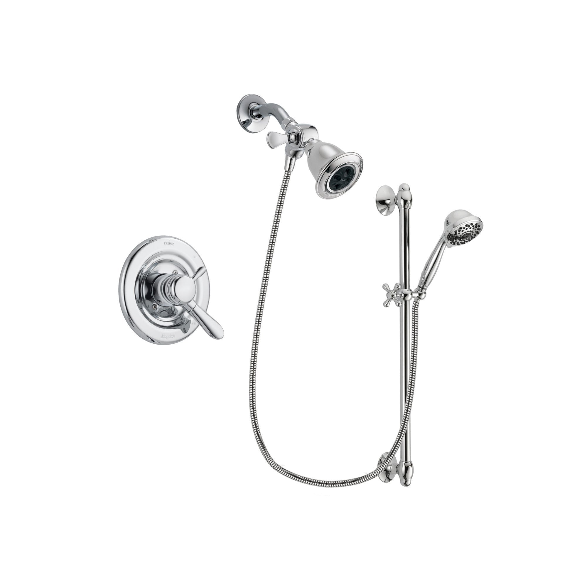 Delta Lahara Chrome Shower Faucet System w/ Shower Head and Hand Shower DSP0616V