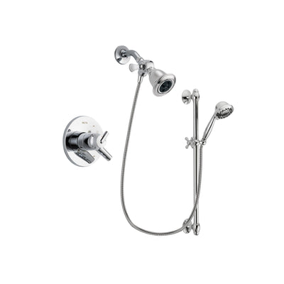 Delta Trinsic Chrome Shower Faucet System w/ Showerhead and Hand Shower DSP0618V