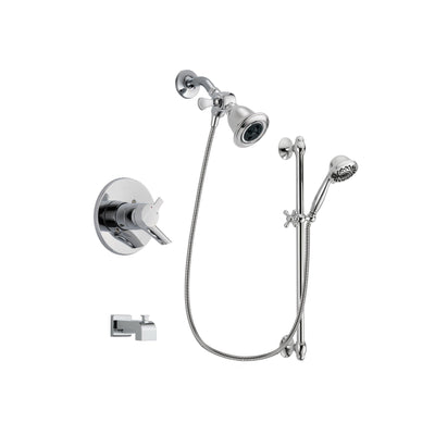 Delta Compel Chrome Tub and Shower Faucet System with Hand Shower DSP0619V