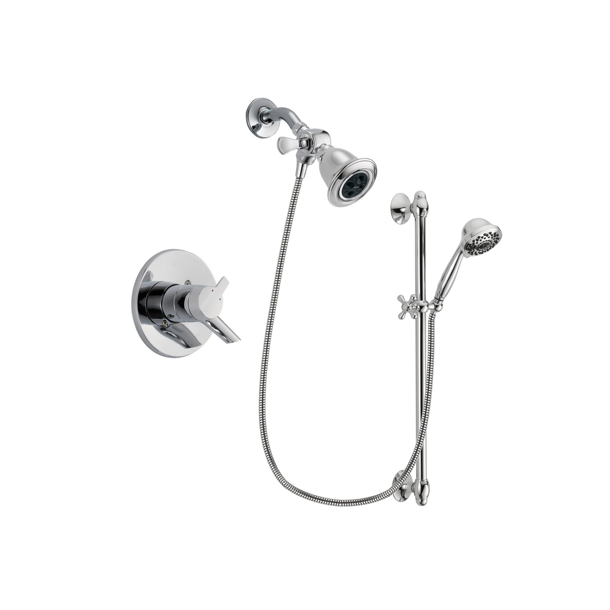 Delta Compel Chrome Shower Faucet System w/ Shower Head and Hand Shower DSP0620V