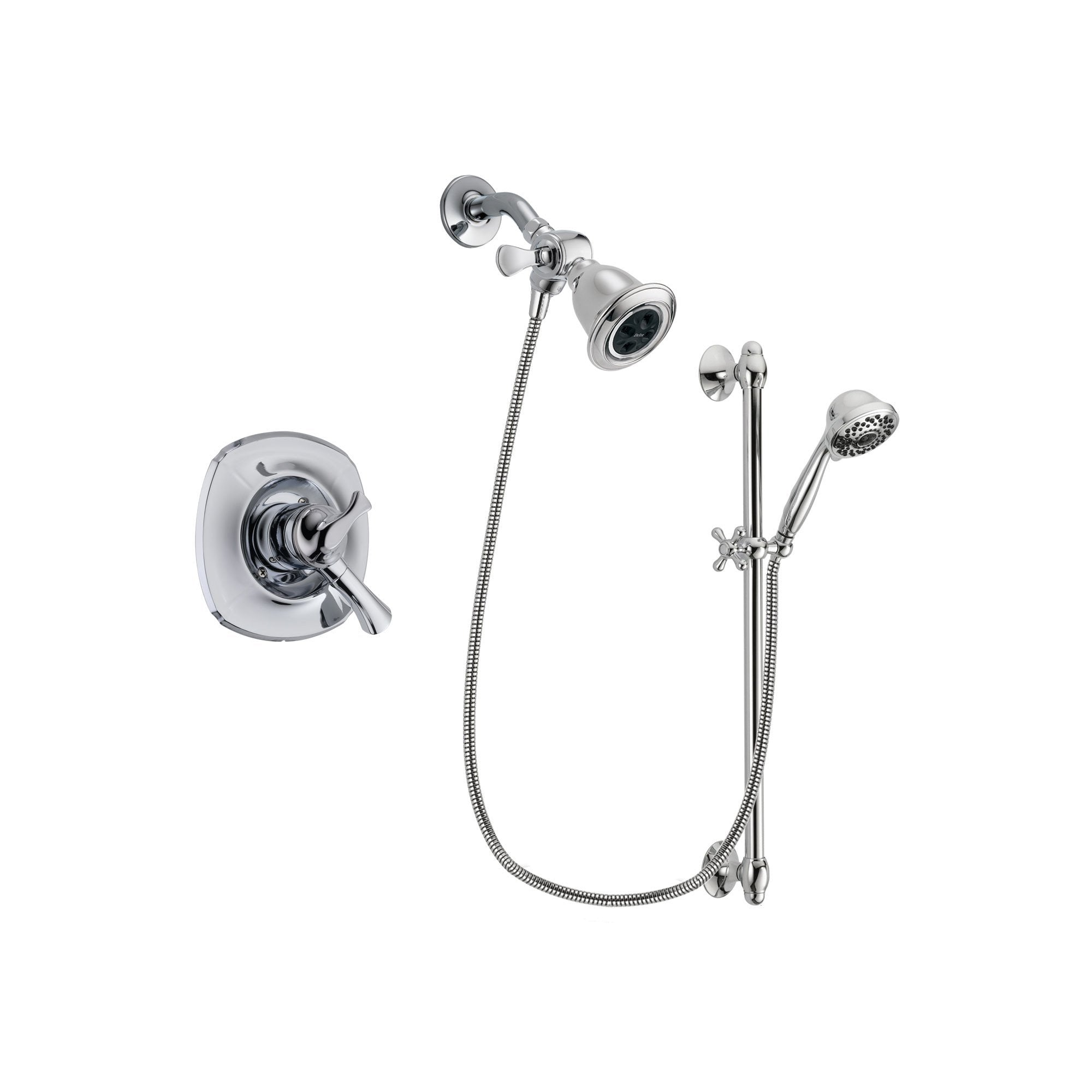 Delta Addison Chrome Shower Faucet System w/ Showerhead and Hand Shower DSP0624V