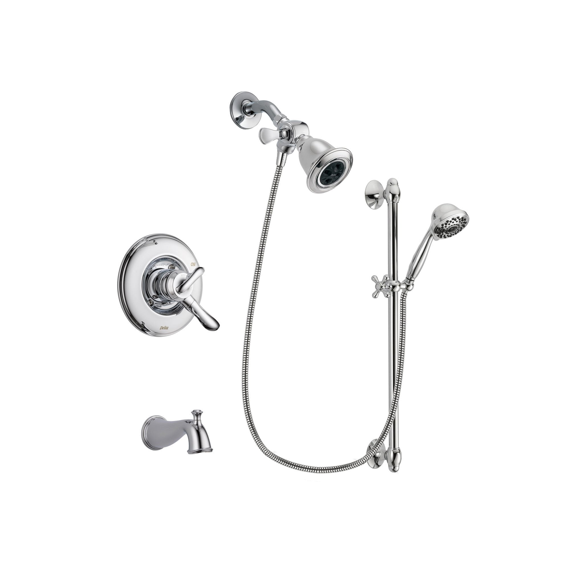 Delta Linden Chrome Tub and Shower Faucet System with Hand Shower DSP0625V