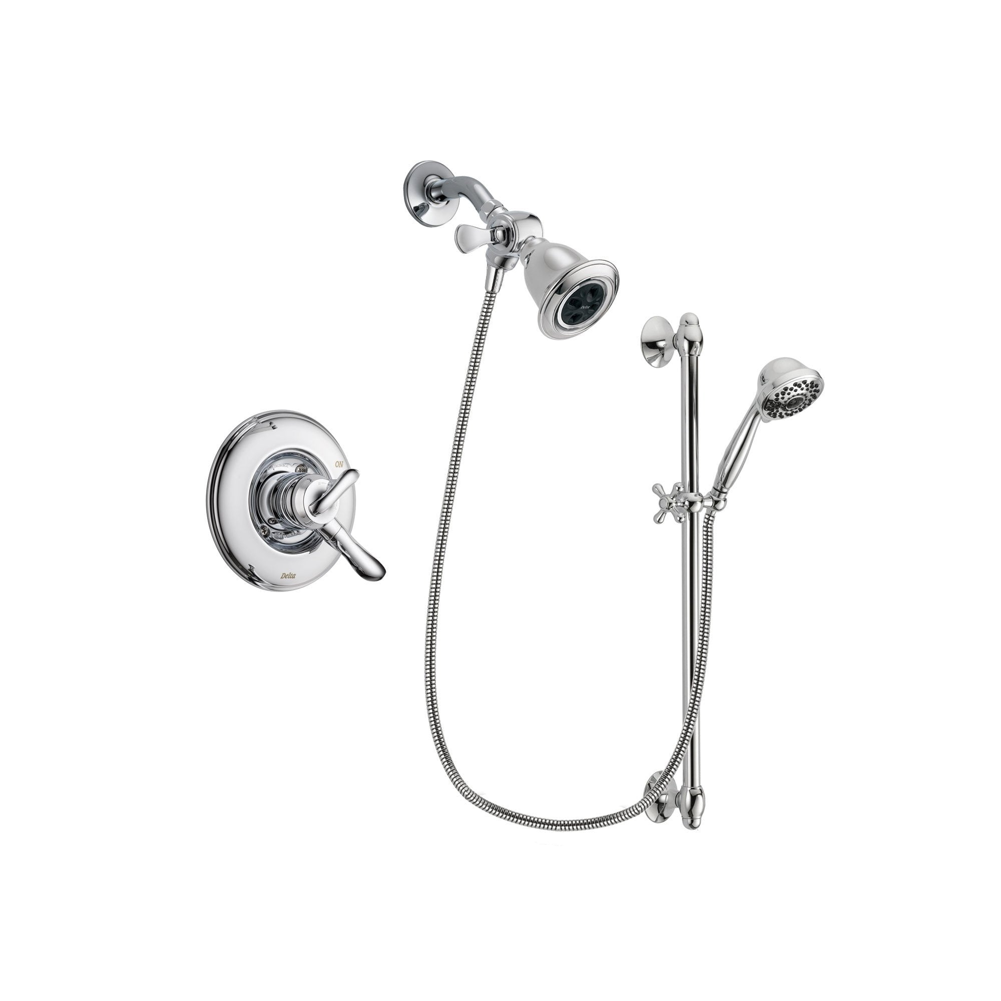Delta Linden Chrome Shower Faucet System w/ Shower Head and Hand Shower DSP0626V