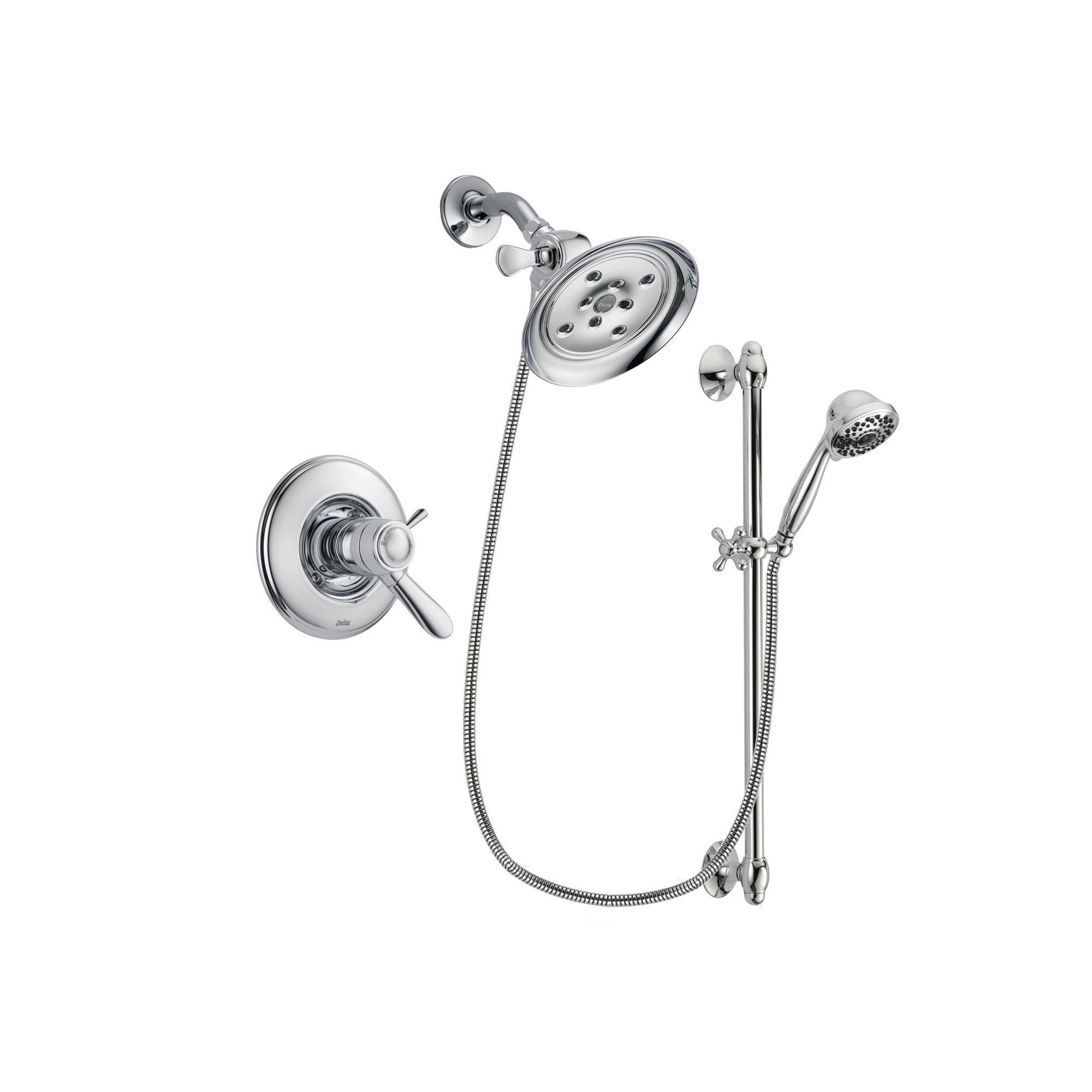 Delta Lahara Chrome Shower Faucet System w/ Shower Head and Hand Shower DSP0630V