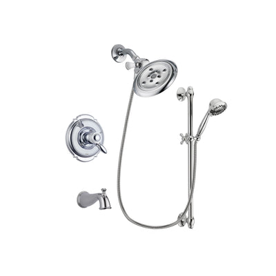 Delta Victorian Chrome Tub and Shower Faucet System with Hand Shower DSP0631V
