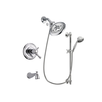 Delta Cassidy Chrome Tub and Shower Faucet System with Hand Shower DSP0637V