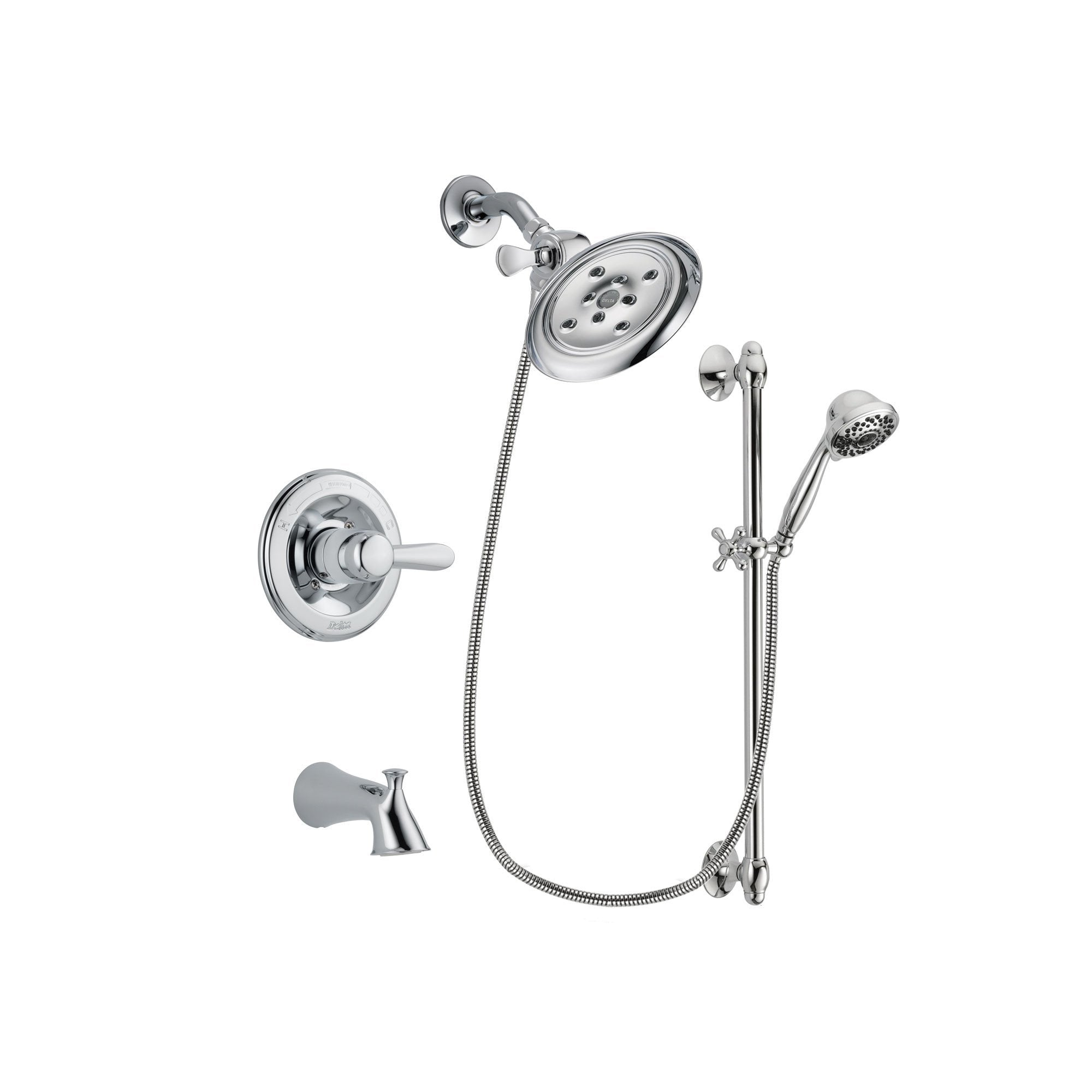Delta Lahara Chrome Tub and Shower Faucet System with Hand Shower DSP0639V