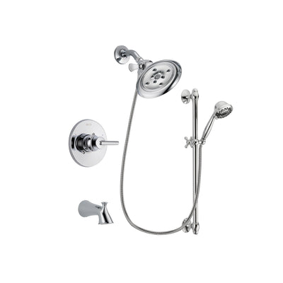 Delta Trinsic Chrome Tub and Shower Faucet System with Hand Shower DSP0641V