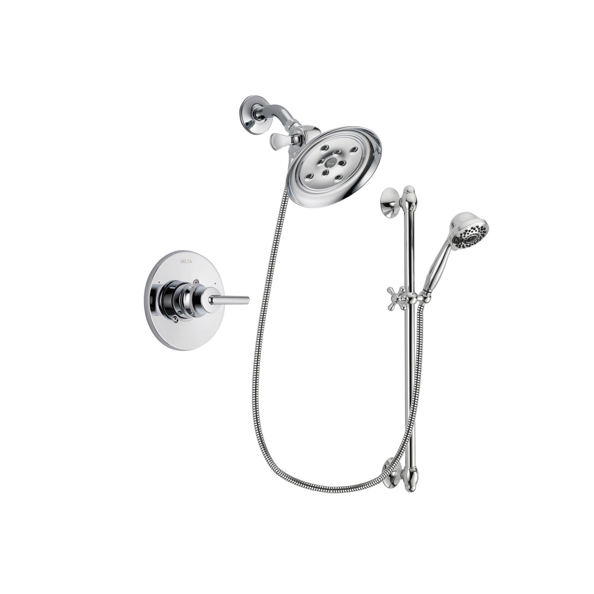 Delta Trinsic Chrome Shower Faucet System w/ Showerhead and Hand Shower DSP0642V