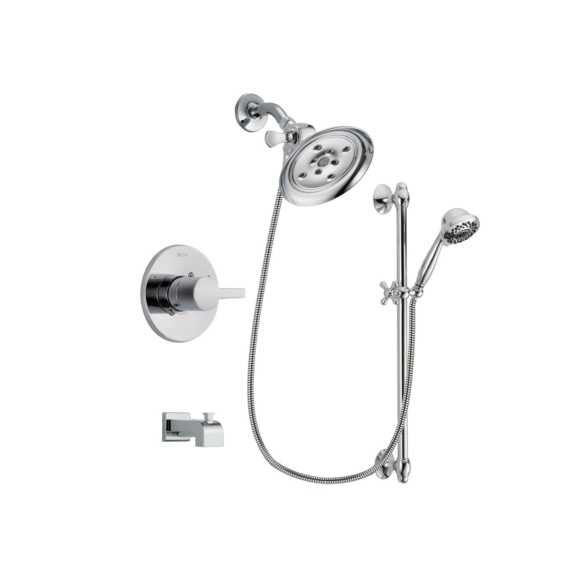 Delta Compel Chrome Tub and Shower Faucet System with Hand Shower DSP0643V