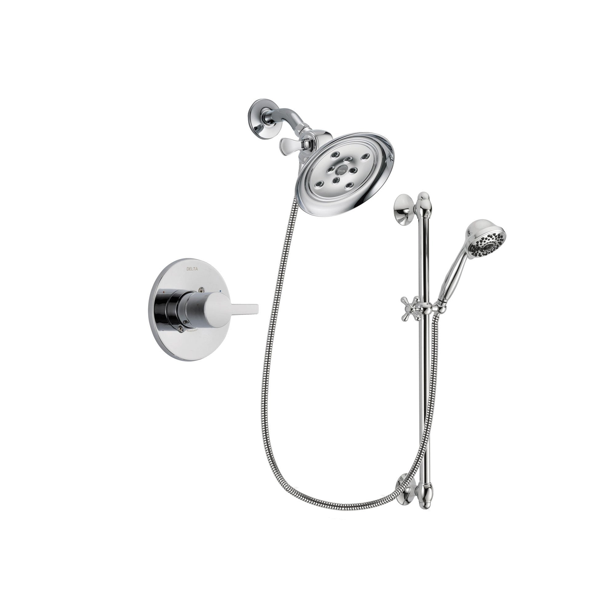 Delta Compel Chrome Shower Faucet System w/ Shower Head and Hand Shower DSP0644V