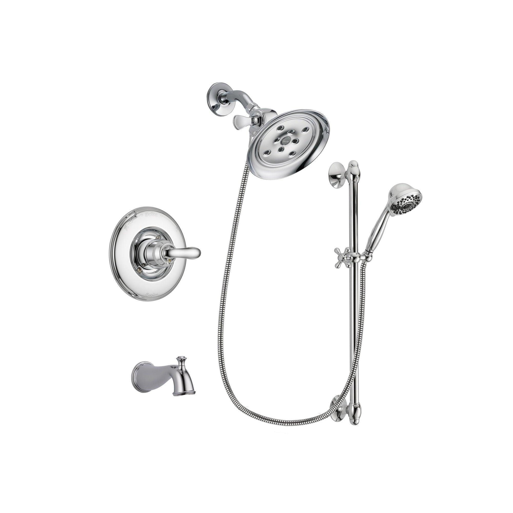 Delta Linden Chrome Tub and Shower Faucet System with Hand Shower DSP0647V