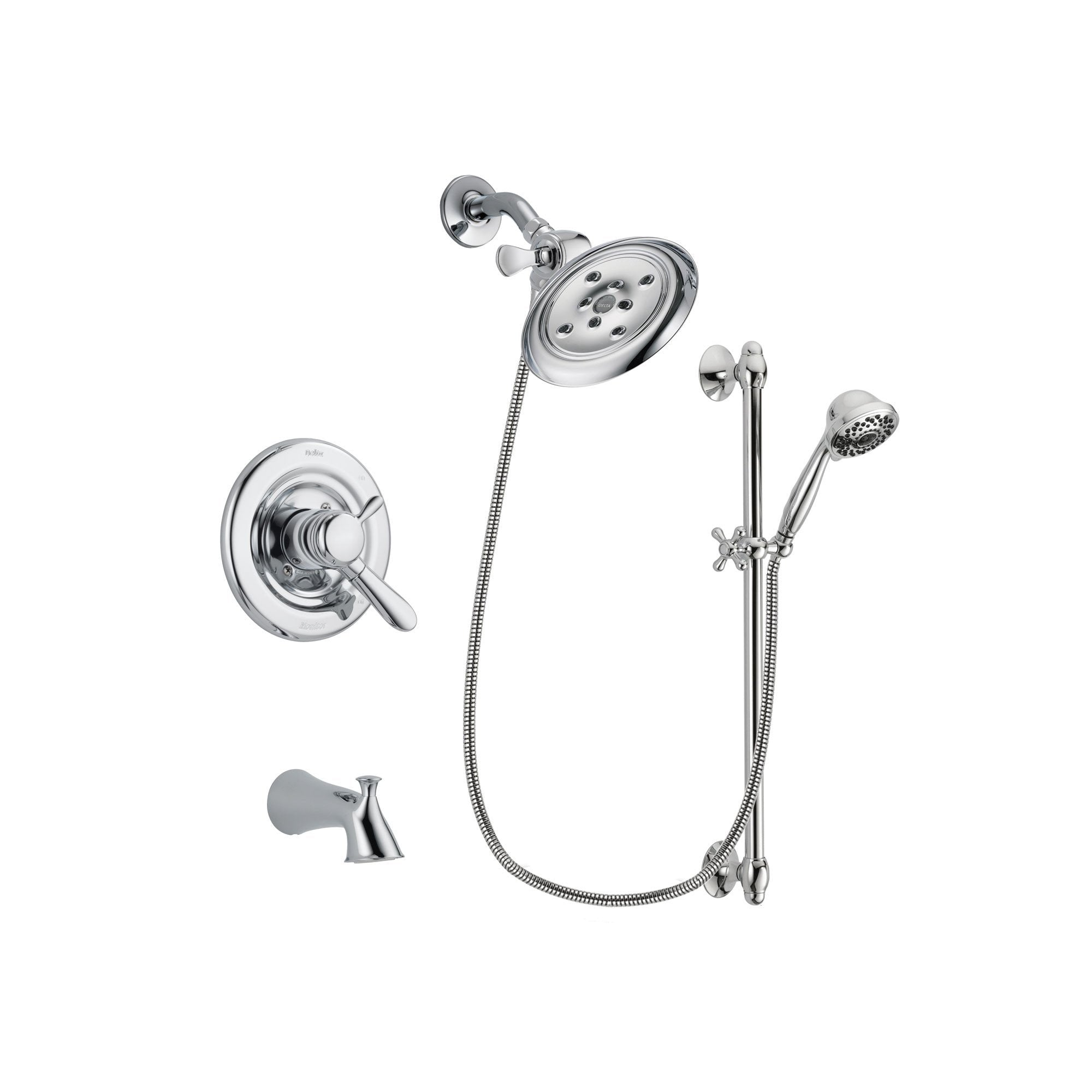 Delta Lahara Chrome Tub and Shower Faucet System with Hand Shower DSP0649V