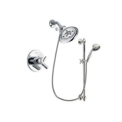 Delta Trinsic Chrome Shower Faucet System w/ Showerhead and Hand Shower DSP0652V