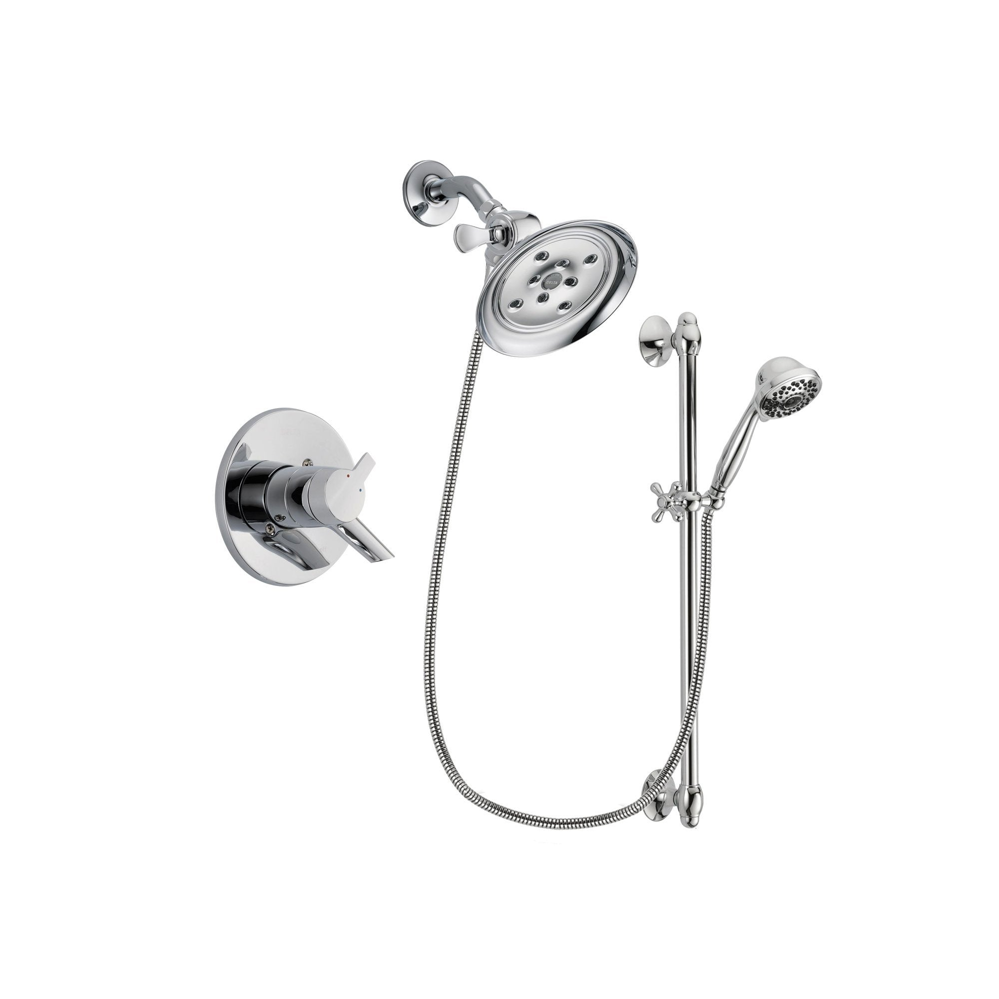 Delta Compel Chrome Shower Faucet System w/ Shower Head and Hand Shower DSP0654V