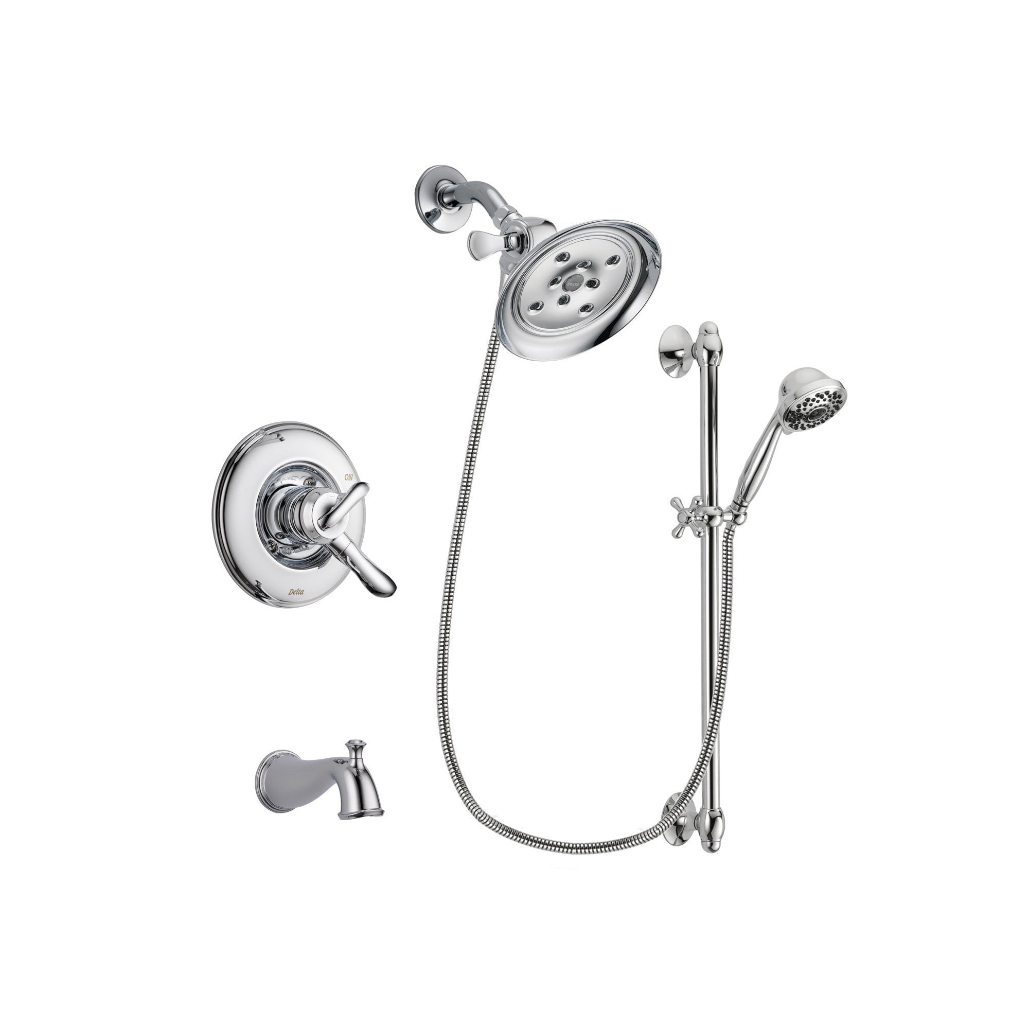 Delta Linden Chrome Tub and Shower Faucet System with Hand Shower DSP0659V