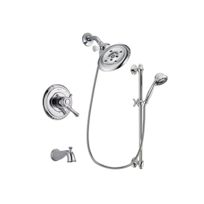 Delta Cassidy Chrome Tub and Shower Faucet System with Hand Shower DSP0661V