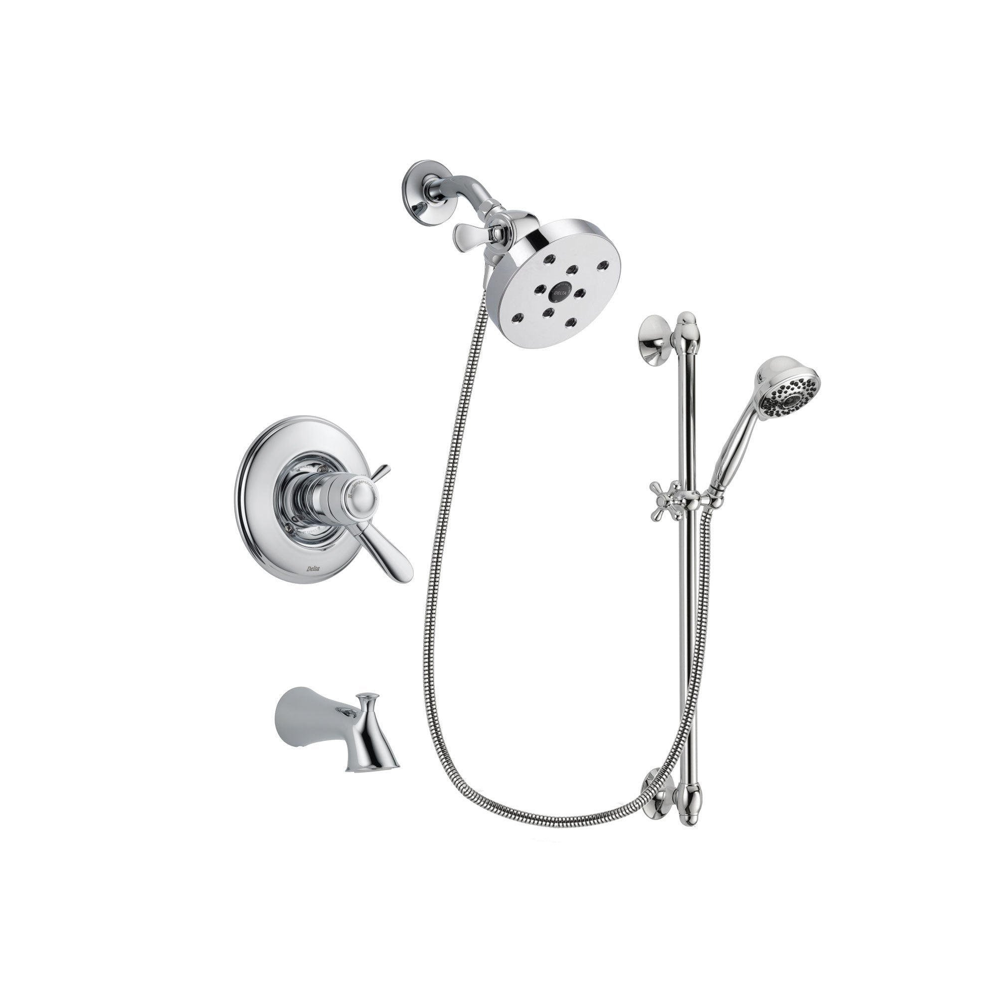 Delta Lahara Chrome Tub and Shower Faucet System with Hand Shower DSP0663V