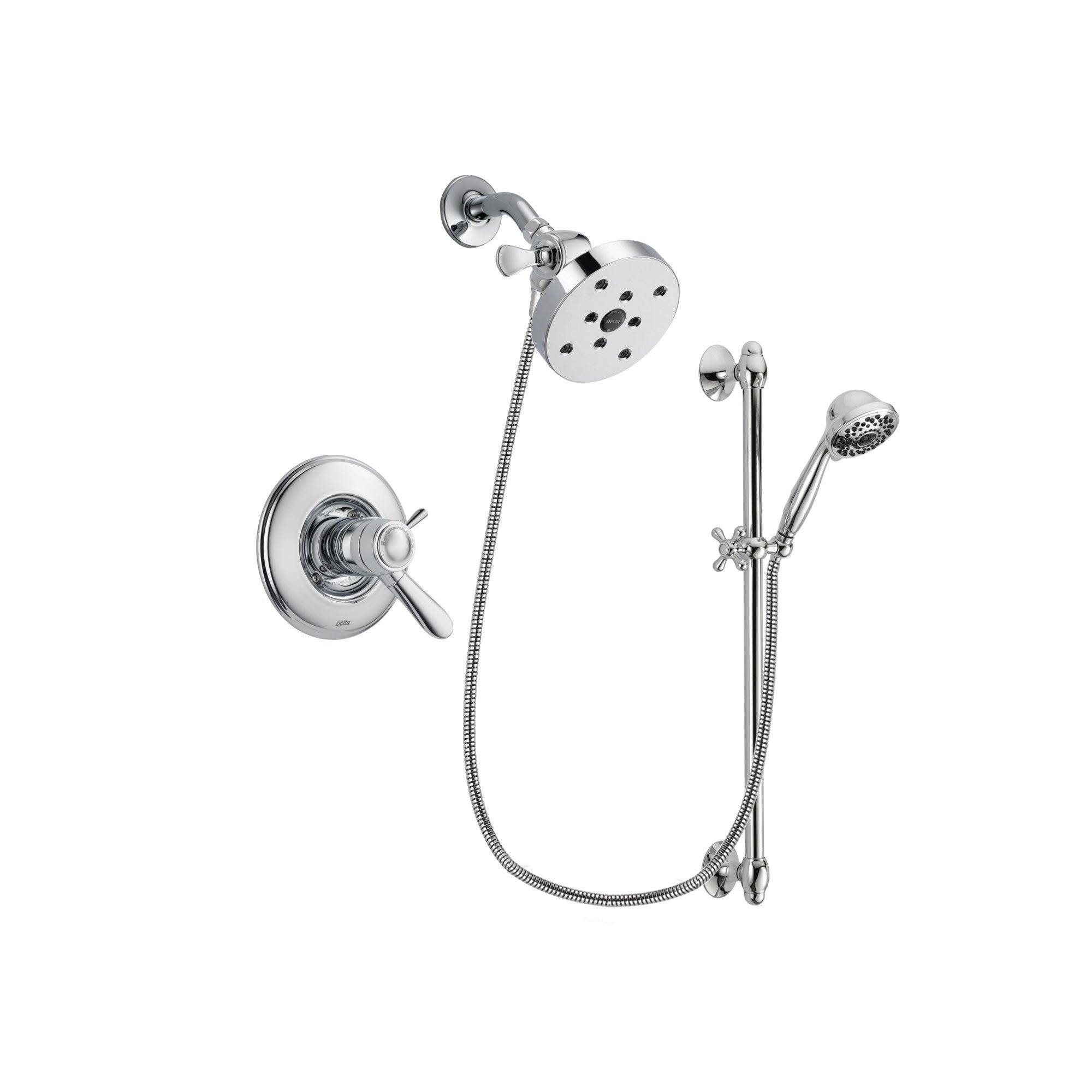 Delta Lahara Chrome Shower Faucet System w/ Shower Head and Hand Shower DSP0664V