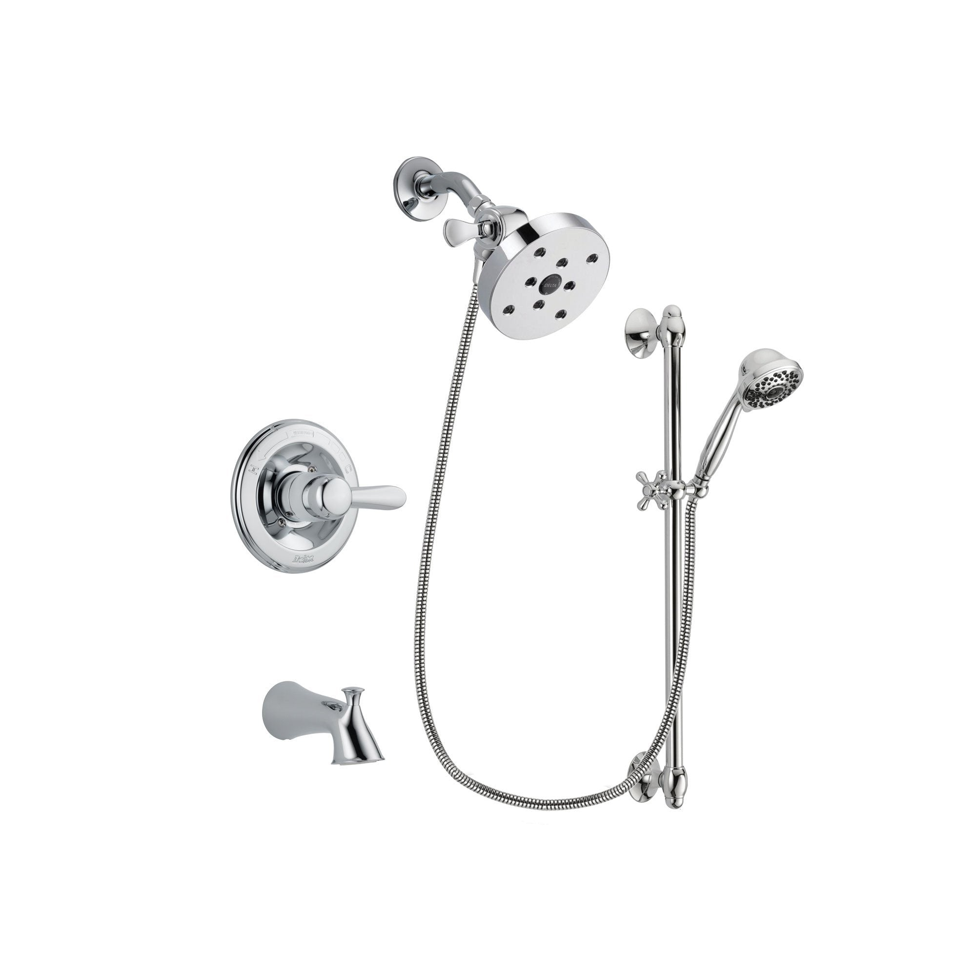 Delta Lahara Chrome Tub and Shower Faucet System with Hand Shower DSP0673V