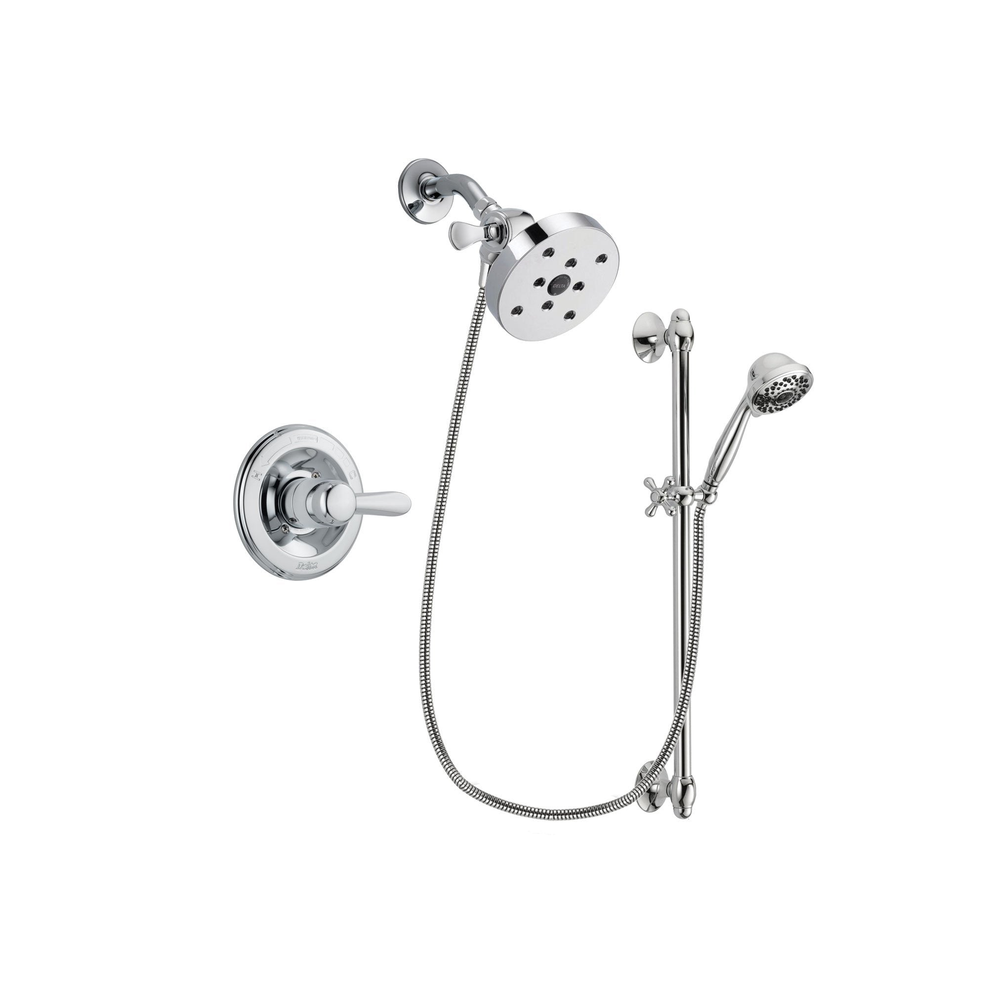 Delta Lahara Chrome Shower Faucet System w/ Shower Head and Hand Shower DSP0674V