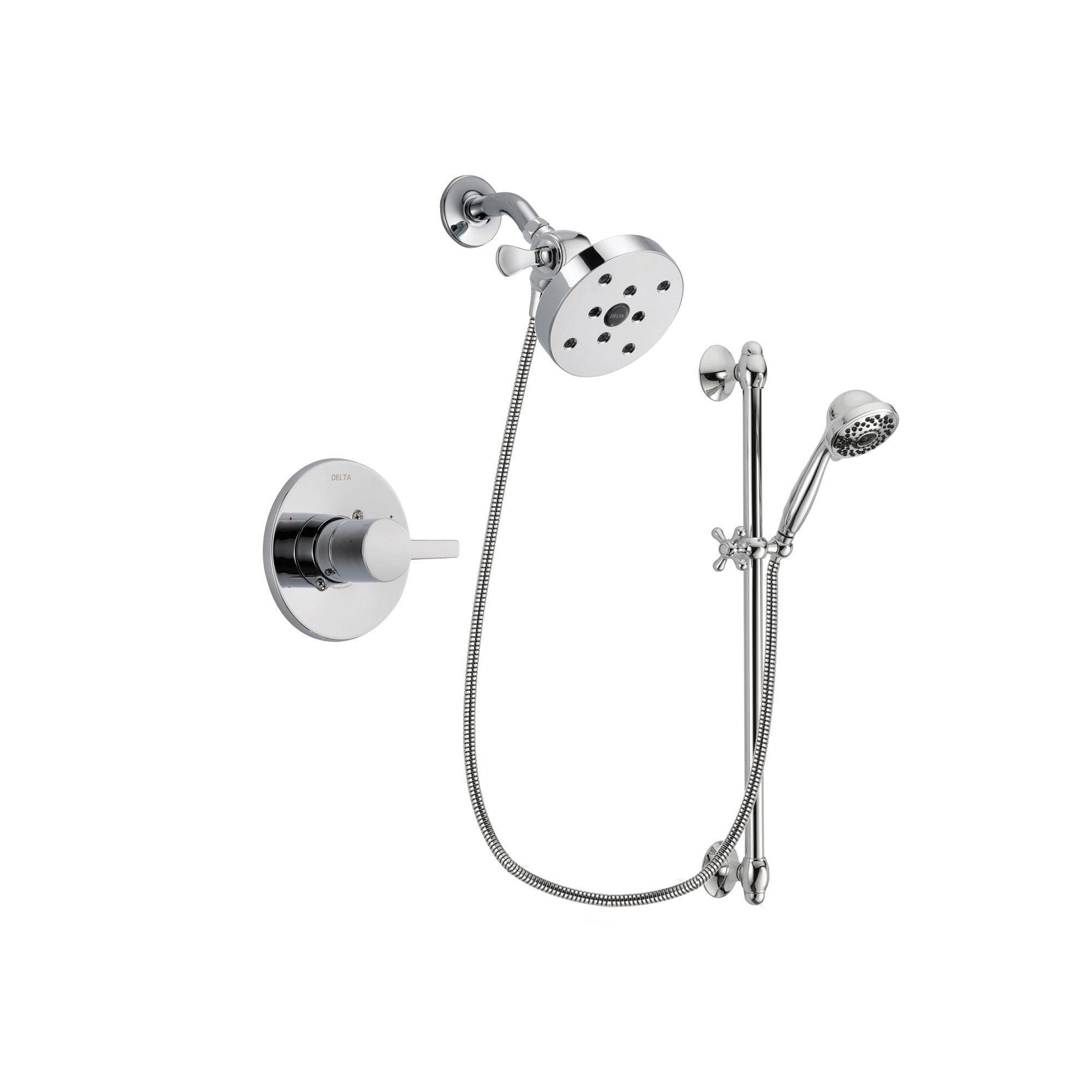 Delta Compel Chrome Shower Faucet System w/ Shower Head and Hand Shower DSP0678V