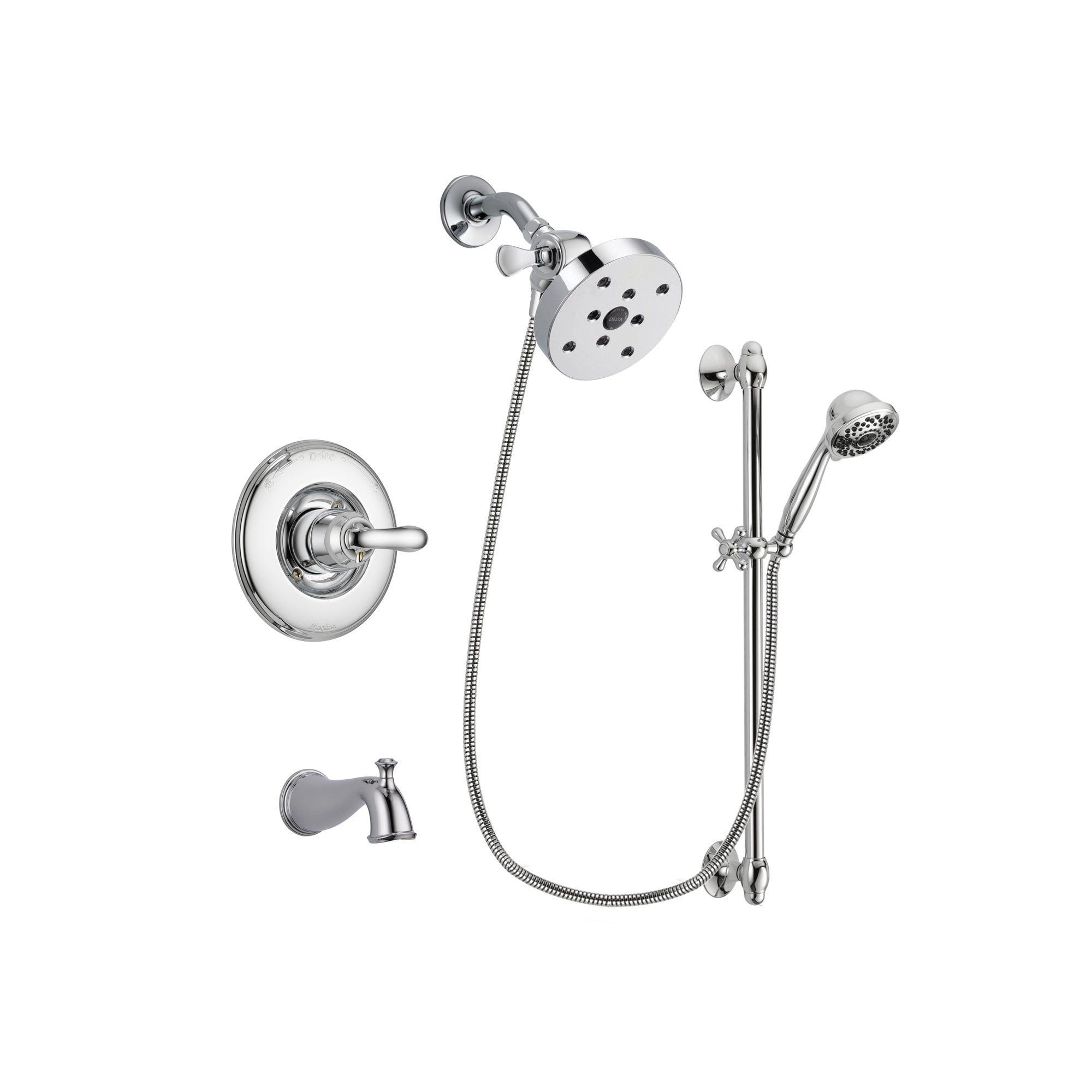 Delta Linden Chrome Tub and Shower Faucet System with Hand Shower DSP0681V