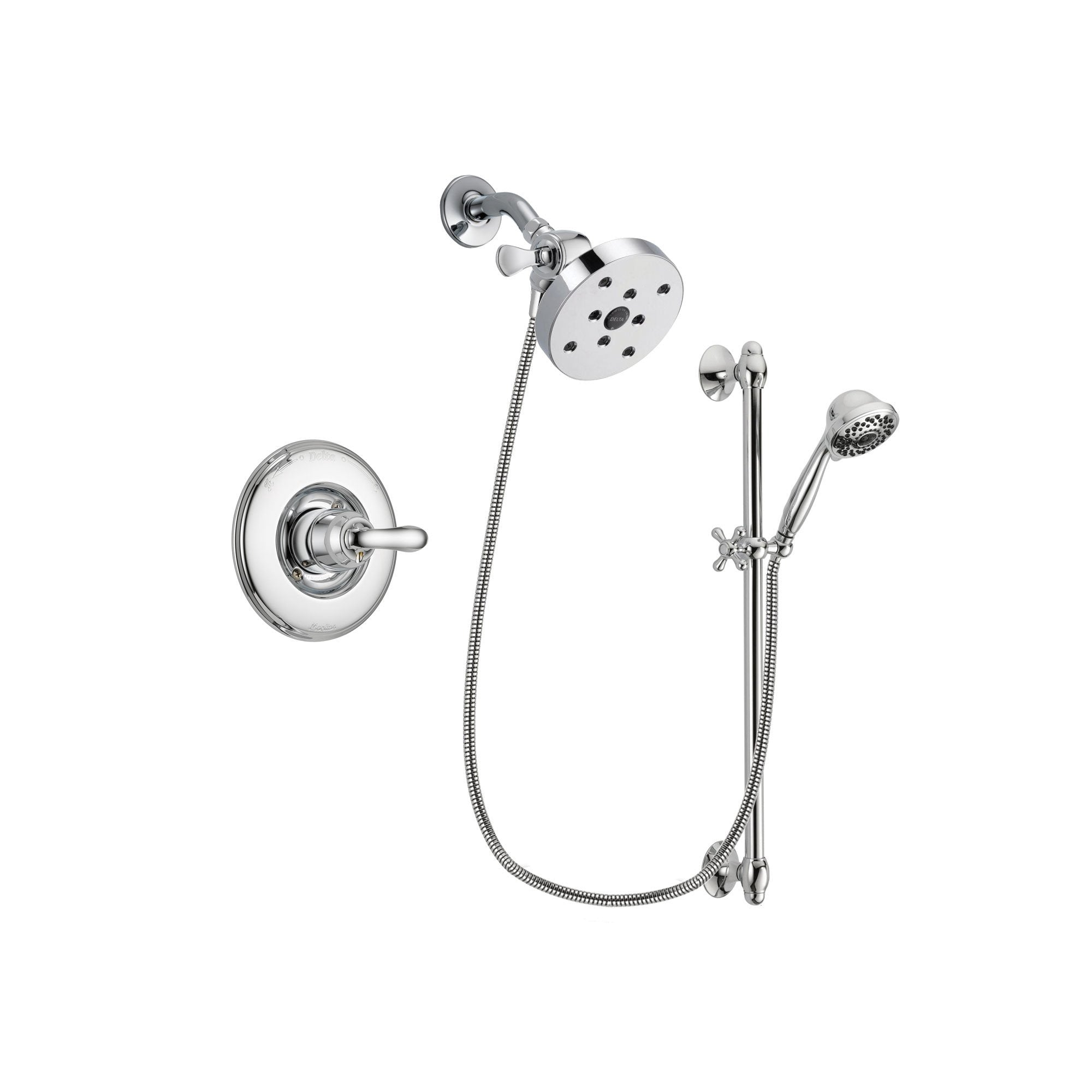 Delta Linden Chrome Shower Faucet System w/ Shower Head and Hand Shower DSP0682V