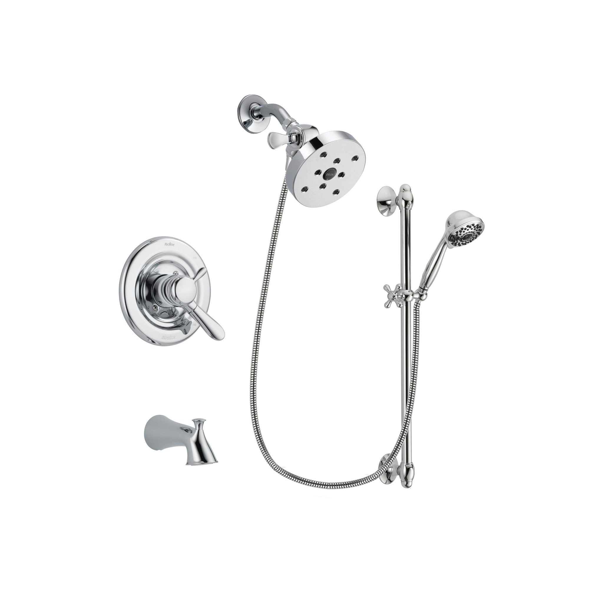 Delta Lahara Chrome Tub and Shower Faucet System with Hand Shower DSP0683V