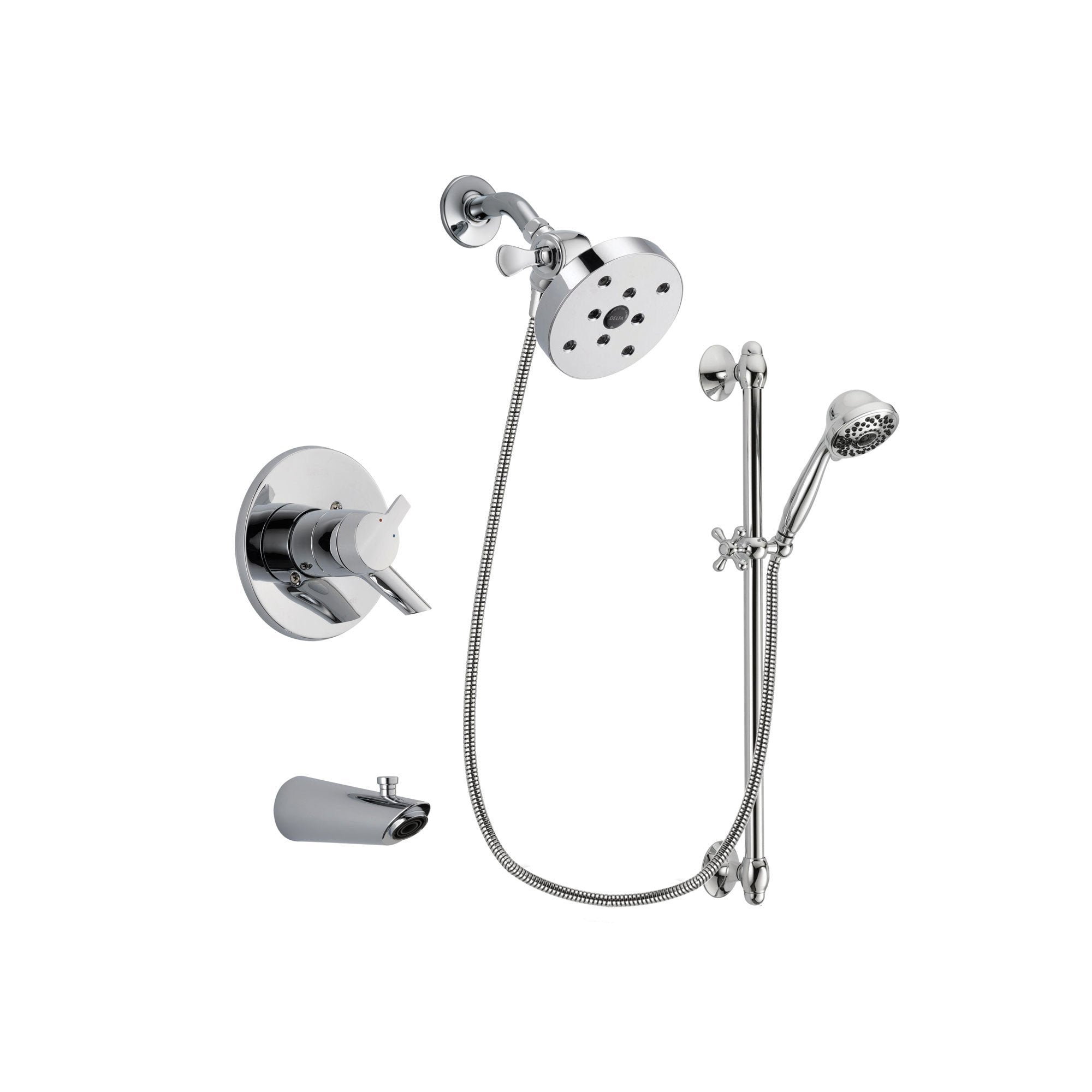 Delta Compel Chrome Tub and Shower Faucet System with Hand Shower DSP0687V