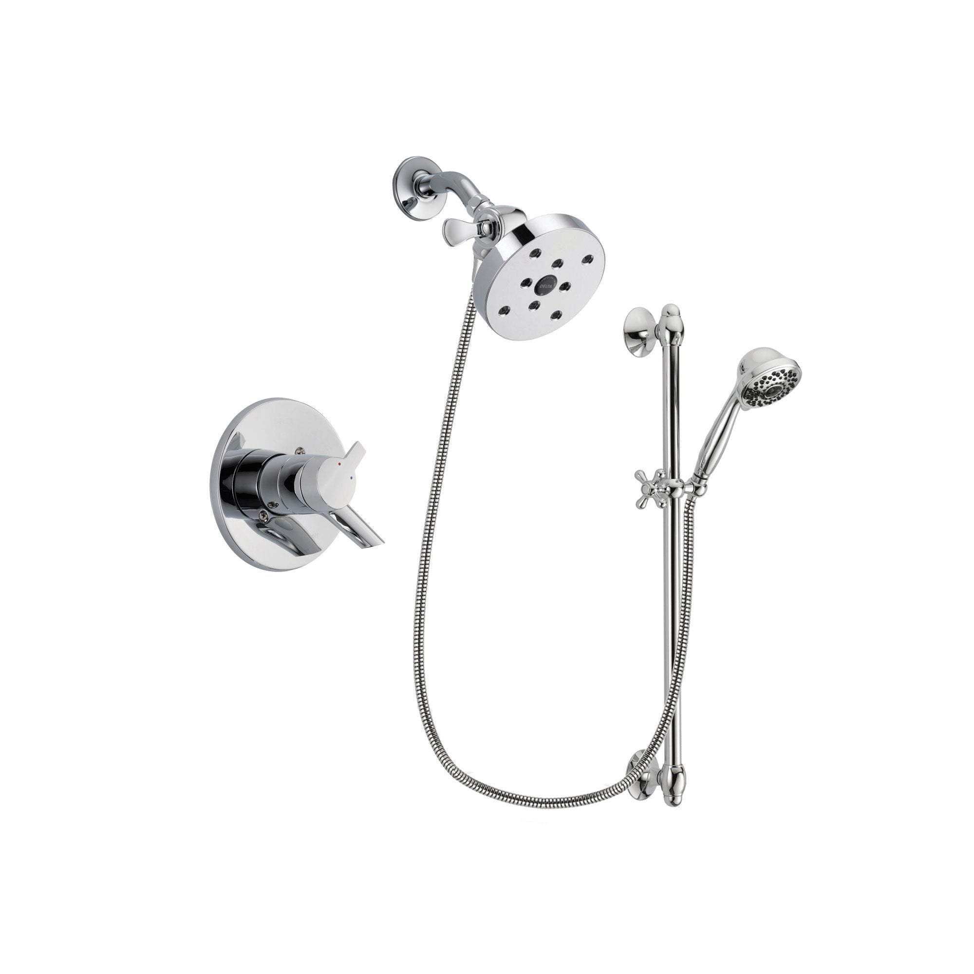 Delta Compel Chrome Shower Faucet System w/ Shower Head and Hand Shower DSP0688V