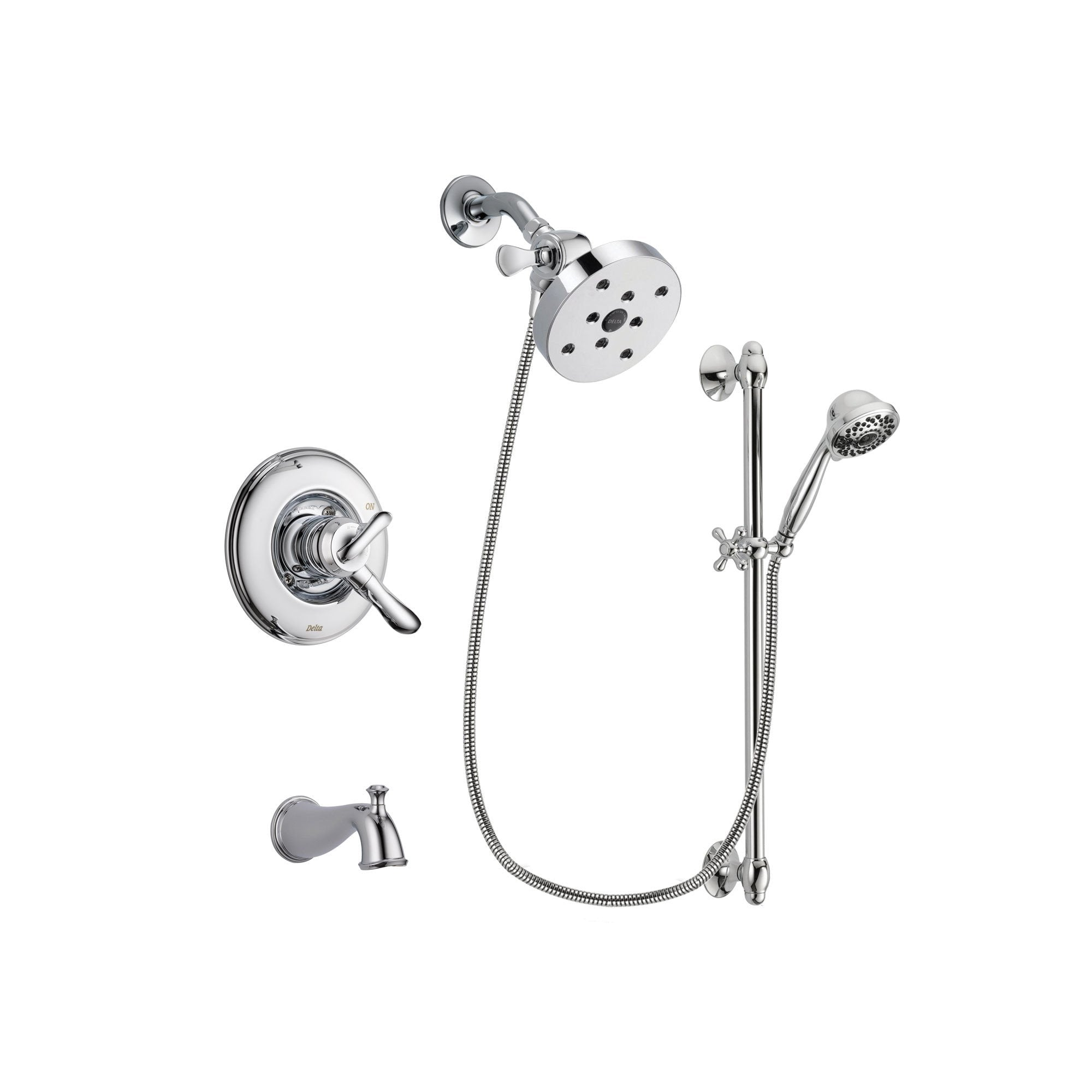 Delta Linden Chrome Tub and Shower Faucet System with Hand Shower DSP0693V