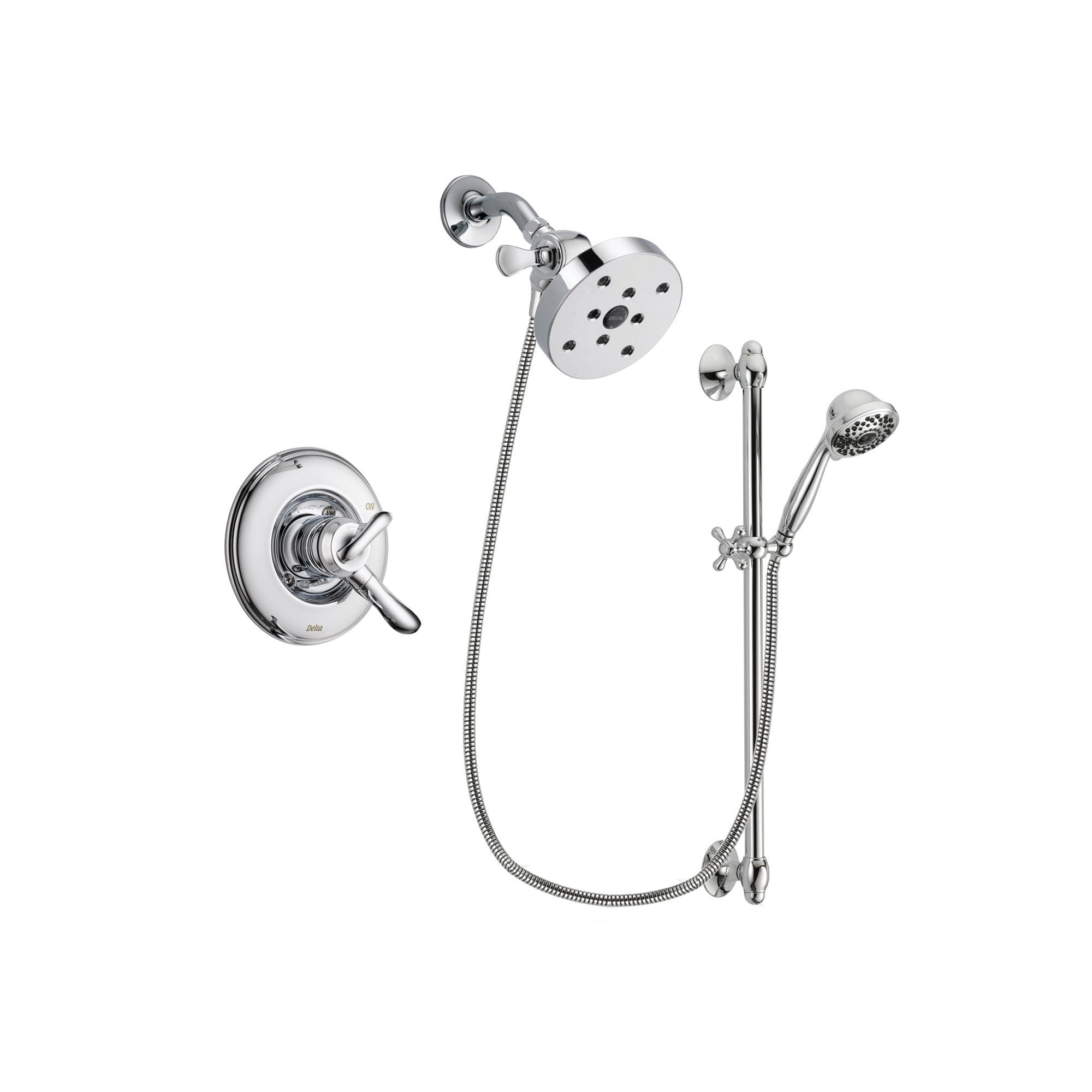 Delta Linden Chrome Shower Faucet System w/ Shower Head and Hand Shower DSP0694V