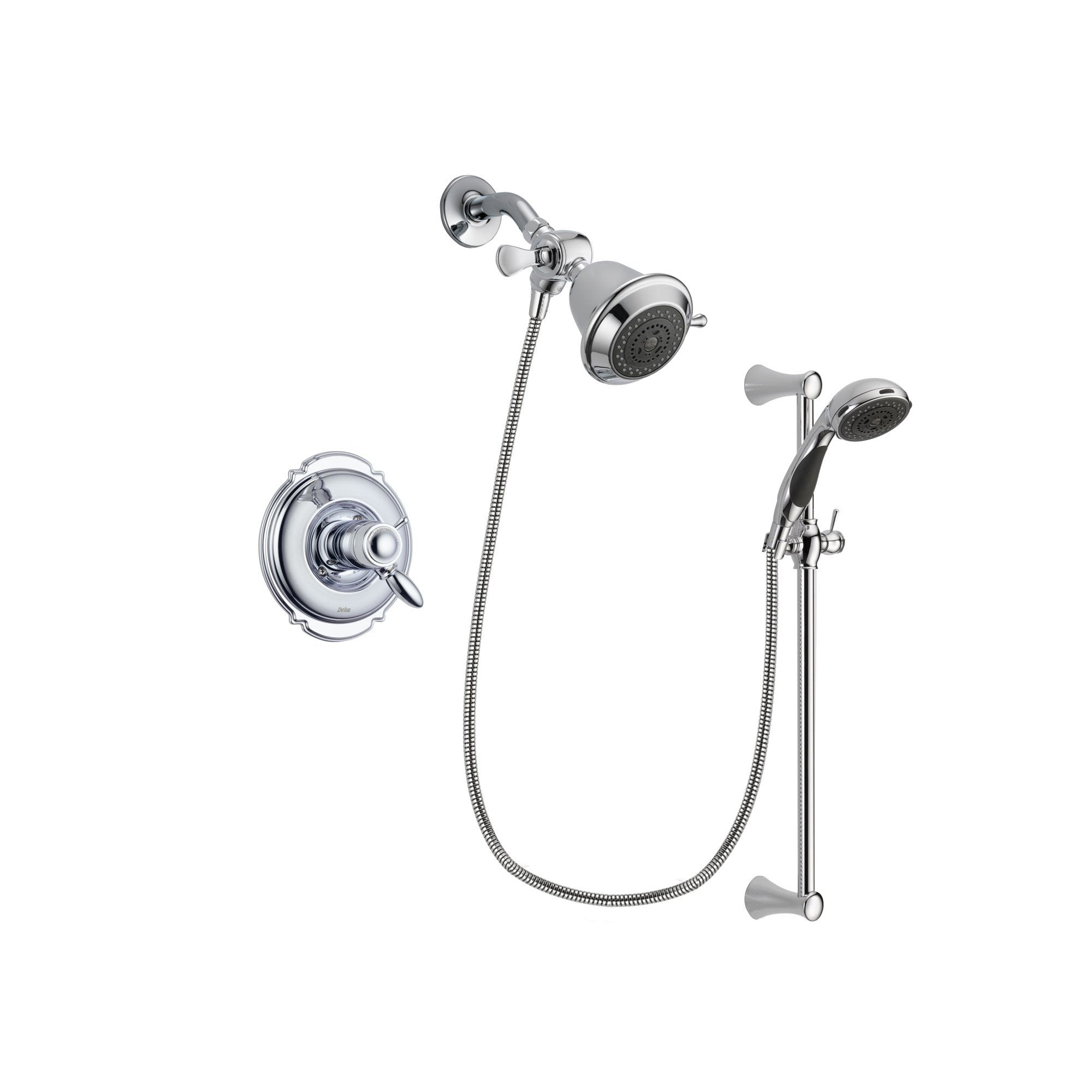Delta Victorian Chrome Shower Faucet System Package with Hand Shower DSP0700V
