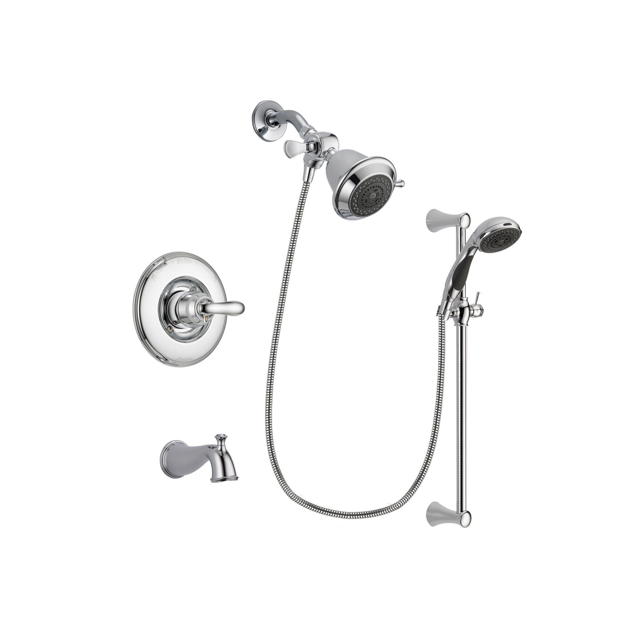 Delta Linden Chrome Tub and Shower Faucet System with Hand Shower DSP0715V