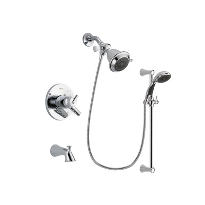 Delta Trinsic Chrome Tub and Shower Faucet System with Hand Shower DSP0719V