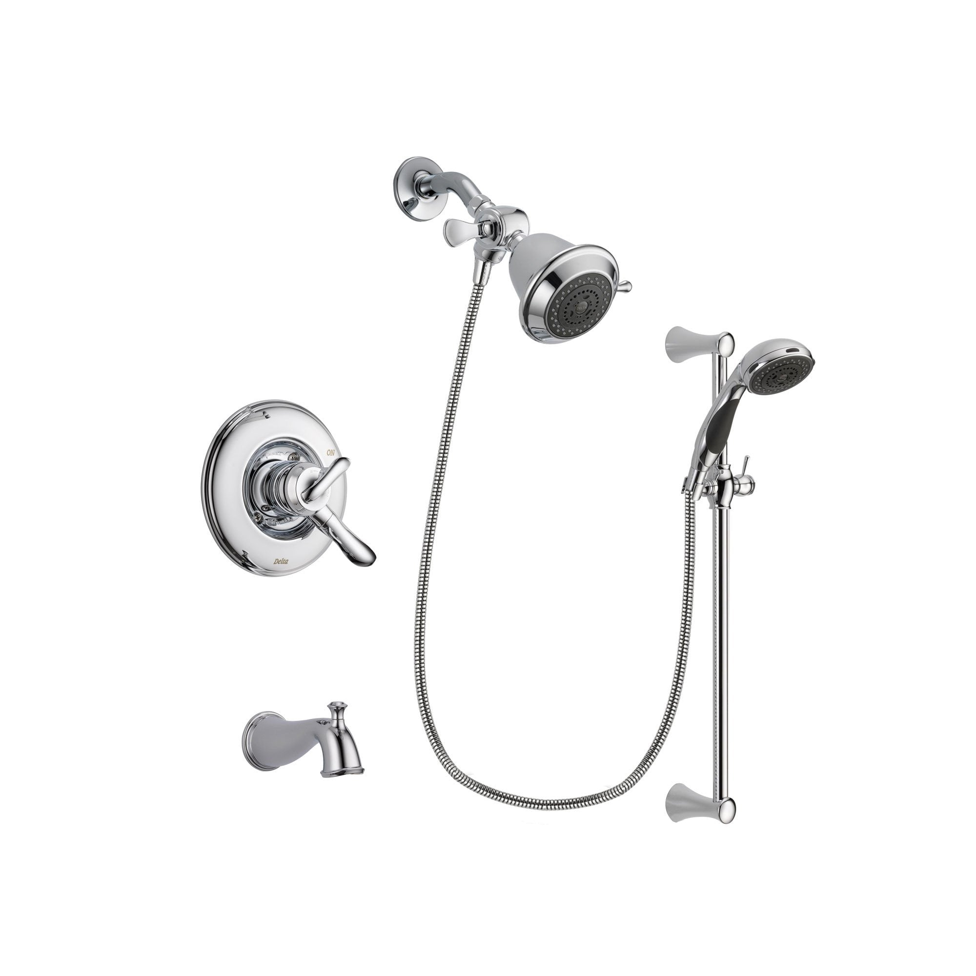 Delta Linden Chrome Tub and Shower Faucet System with Hand Shower DSP0727V