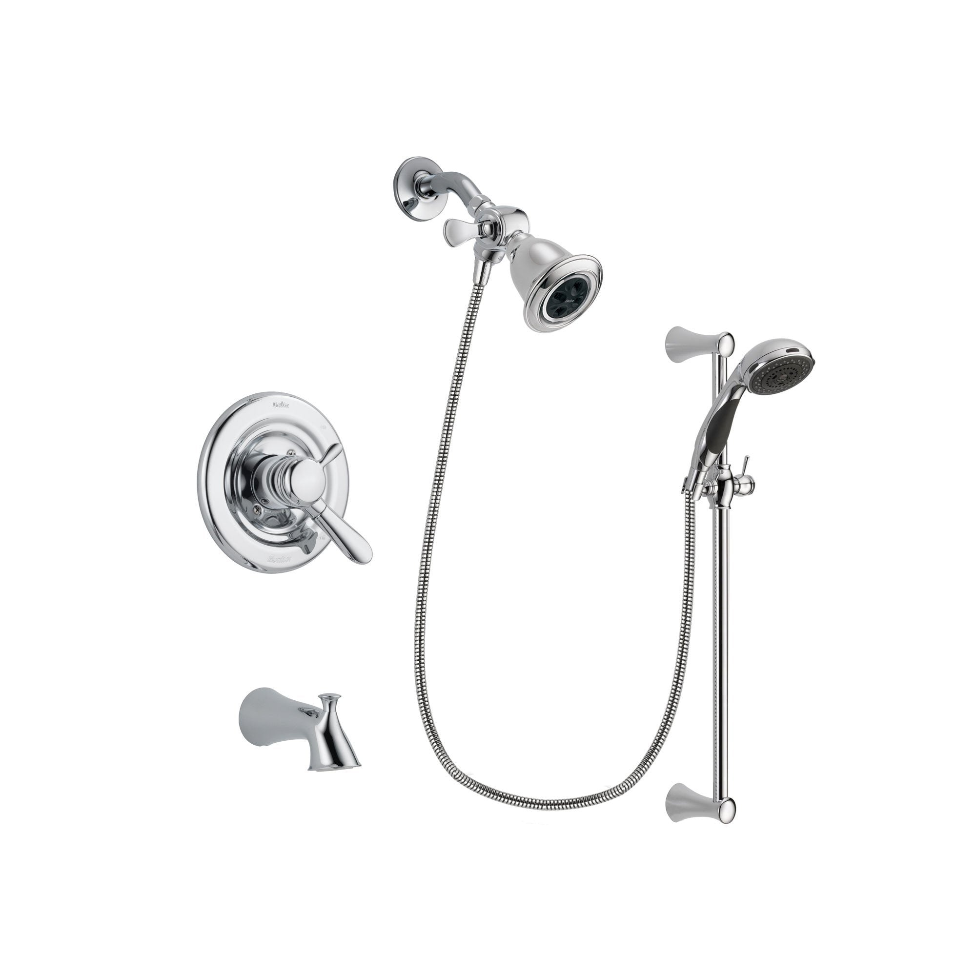 Delta Lahara Chrome Tub and Shower Faucet System with Hand Shower DSP0751V