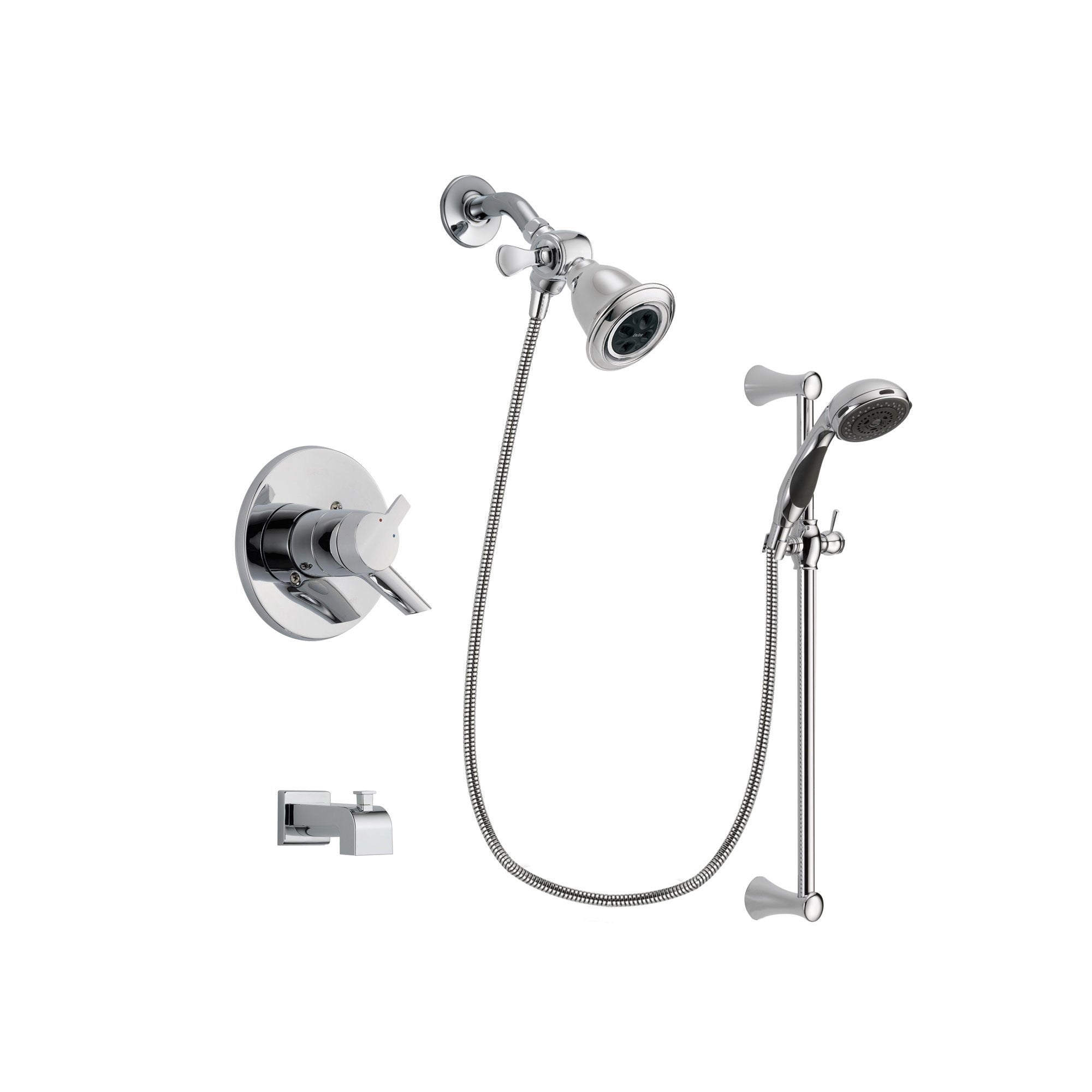 Delta Compel Chrome Tub and Shower Faucet System with Hand Shower DSP0755V