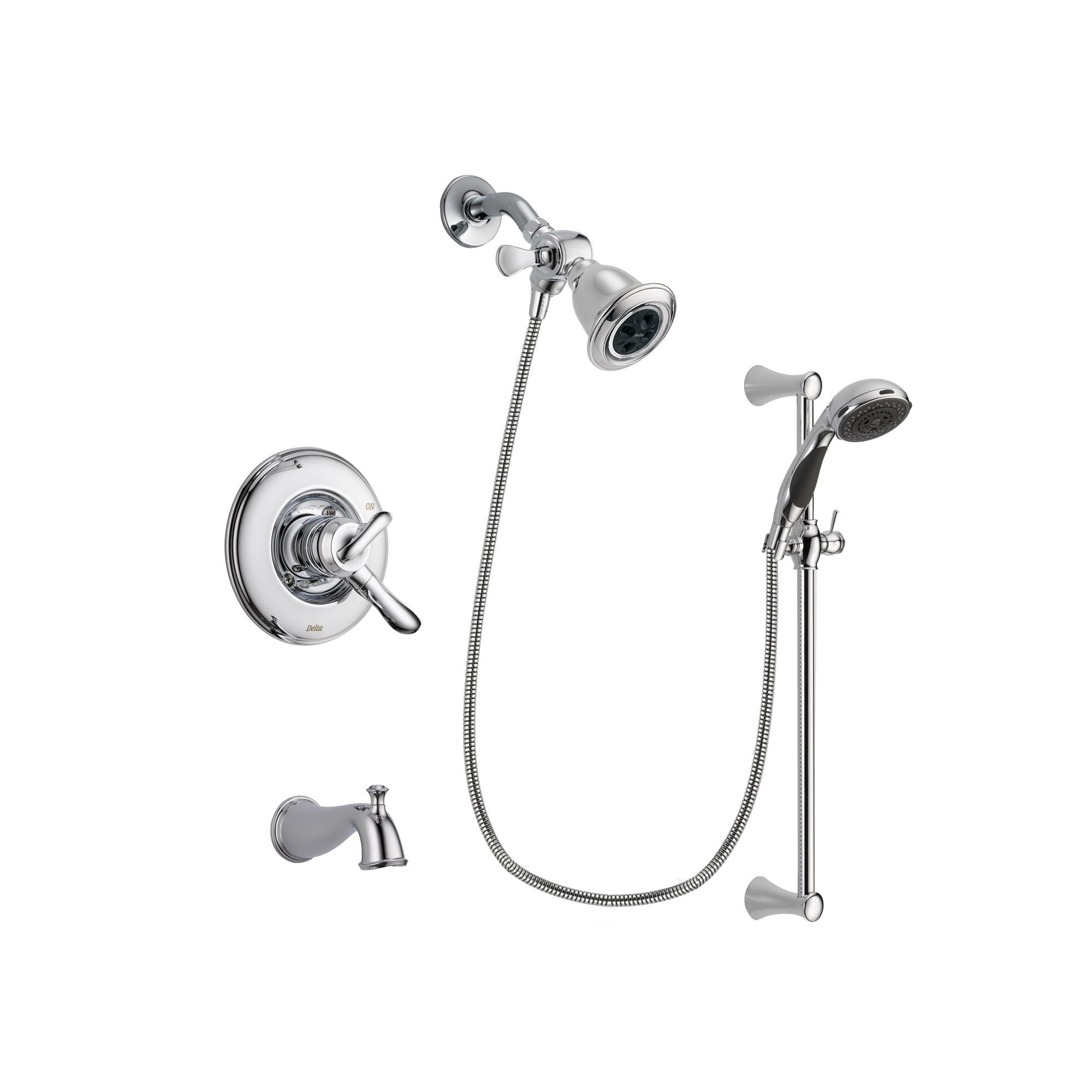 Delta Linden Chrome Tub and Shower Faucet System with Hand Shower DSP0761V