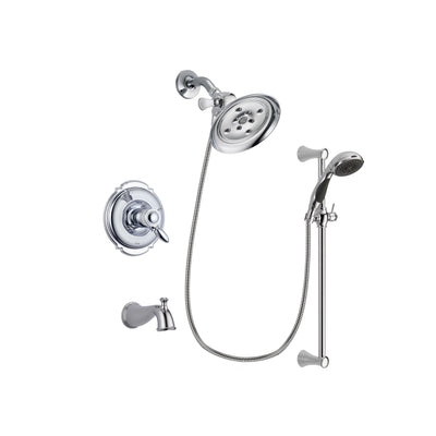 Delta Victorian Chrome Tub and Shower Faucet System with Hand Shower DSP0767V