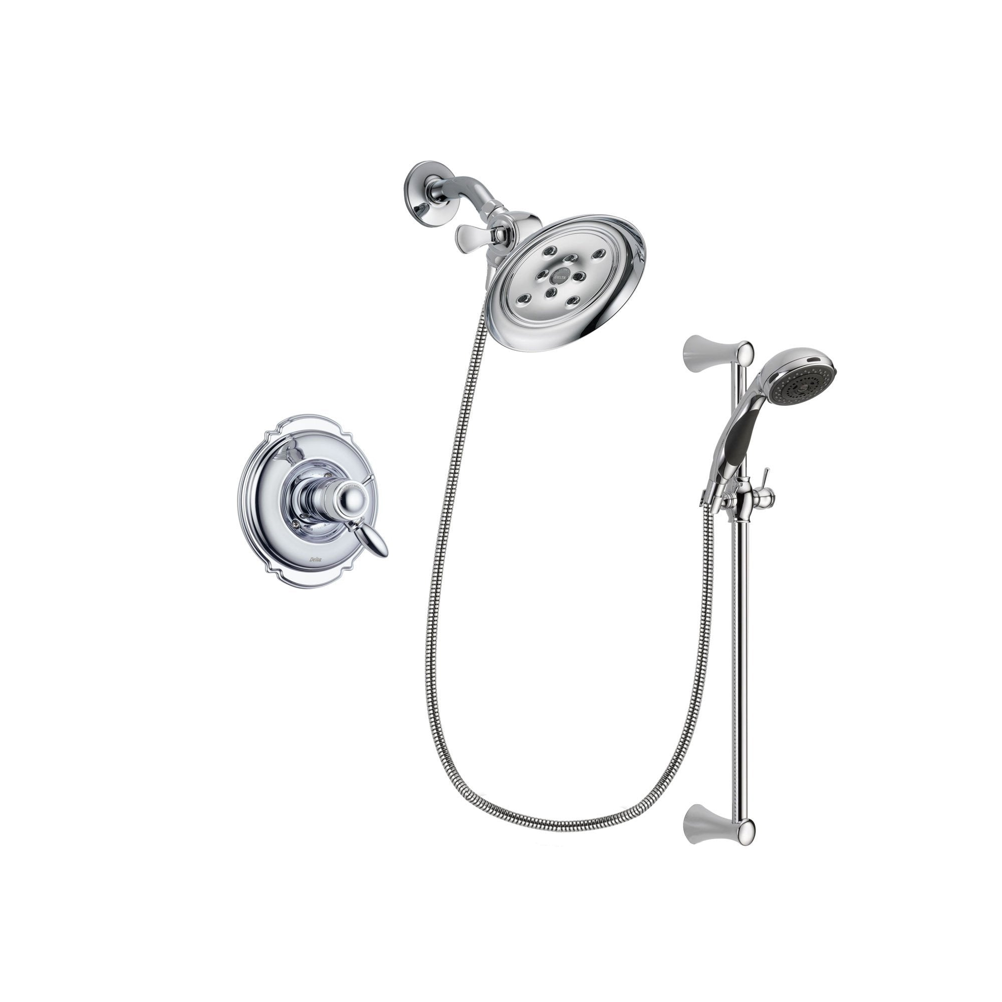 Delta Victorian Chrome Shower Faucet System Package with Hand Shower DSP0768V