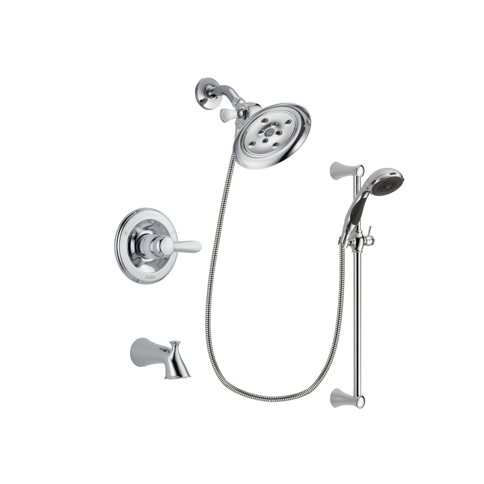 Delta Lahara Chrome Tub and Shower Faucet System with Hand Shower DSP0775V