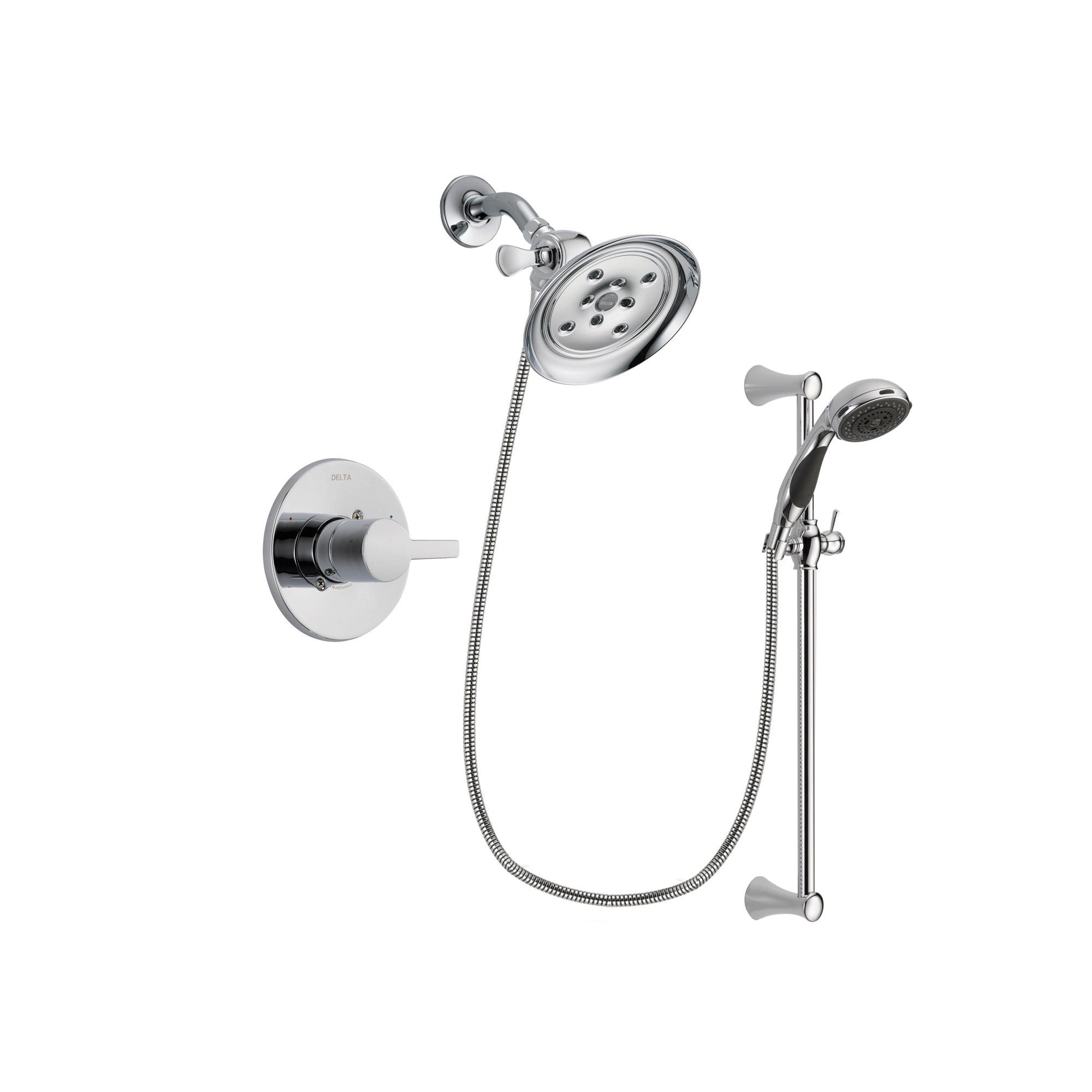 Delta Compel Chrome Shower Faucet System w/ Shower Head and Hand Shower DSP0780V